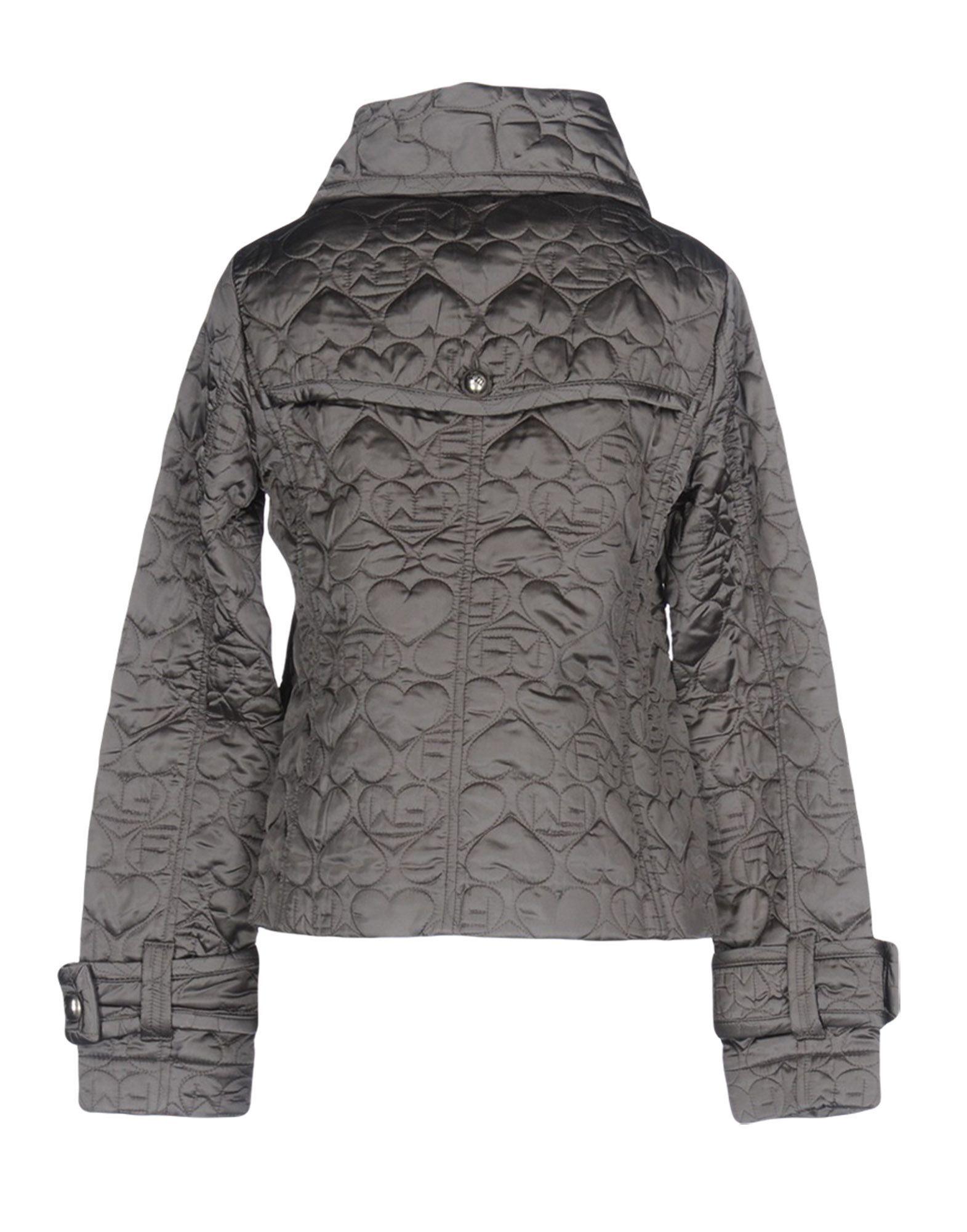 Frankie Morello Grey Satin Quilted Jacket