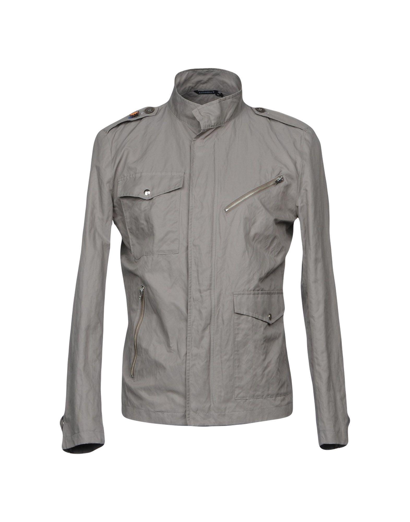 COATS & JACKETS Grey Daniele Alessandrini Grey Man Cotton