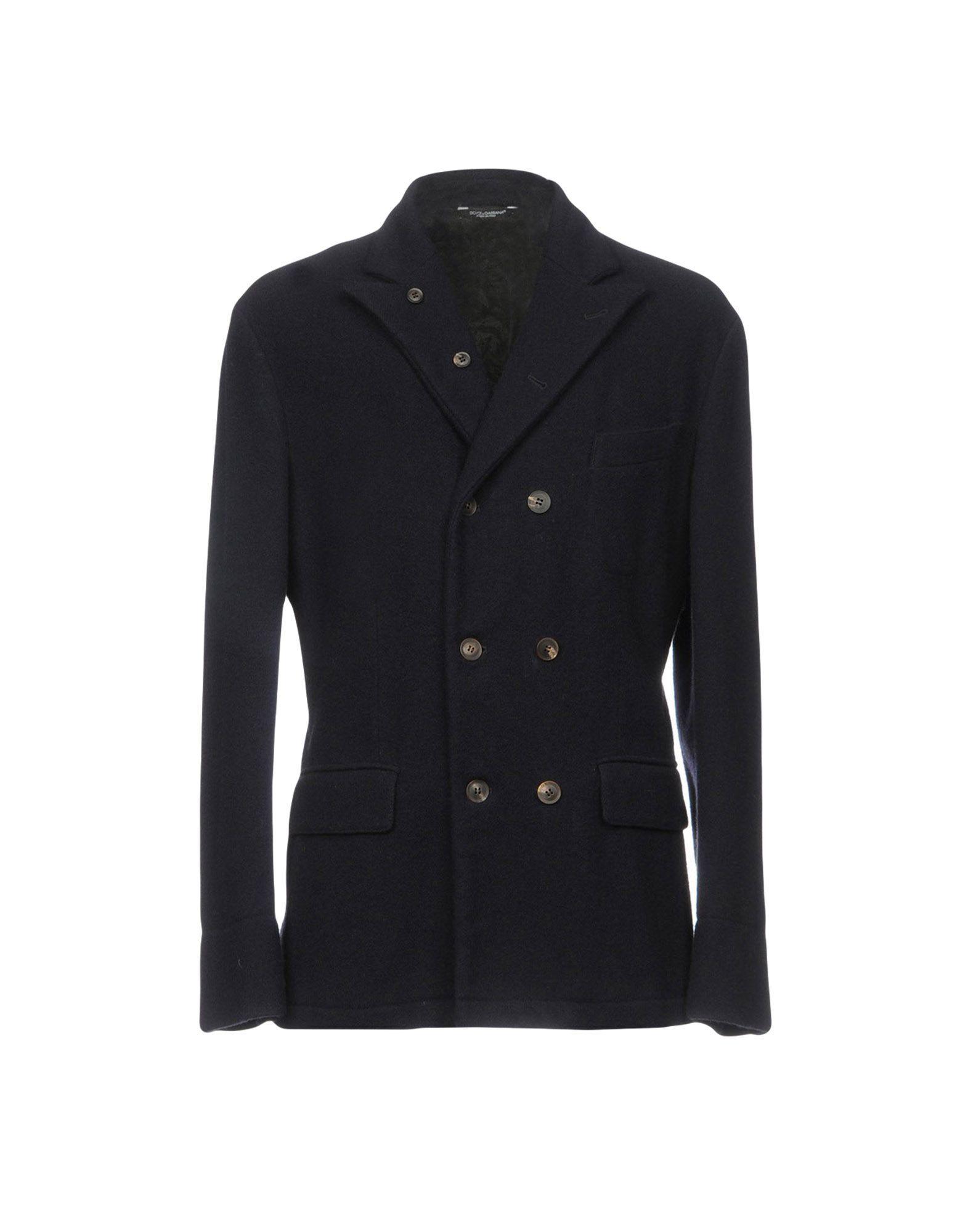 COATS & JACKETS Dolce & Gabbana Dark blue Man Virgin Wool