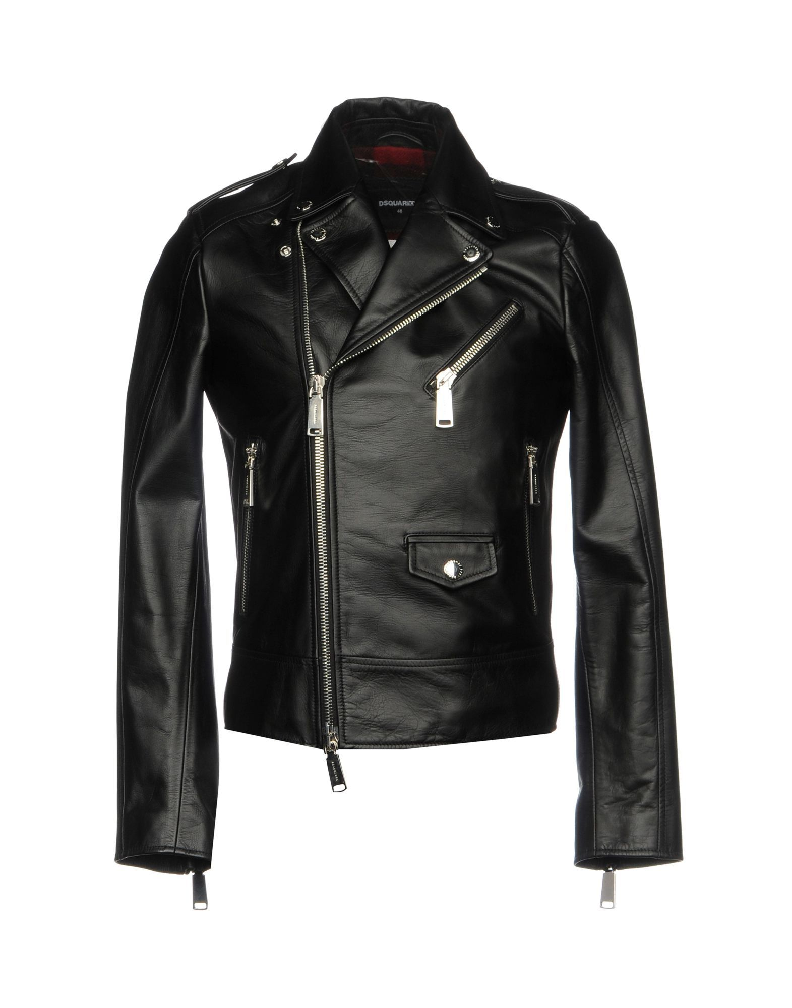 Dsquared2 Black Calf Leather Jacket