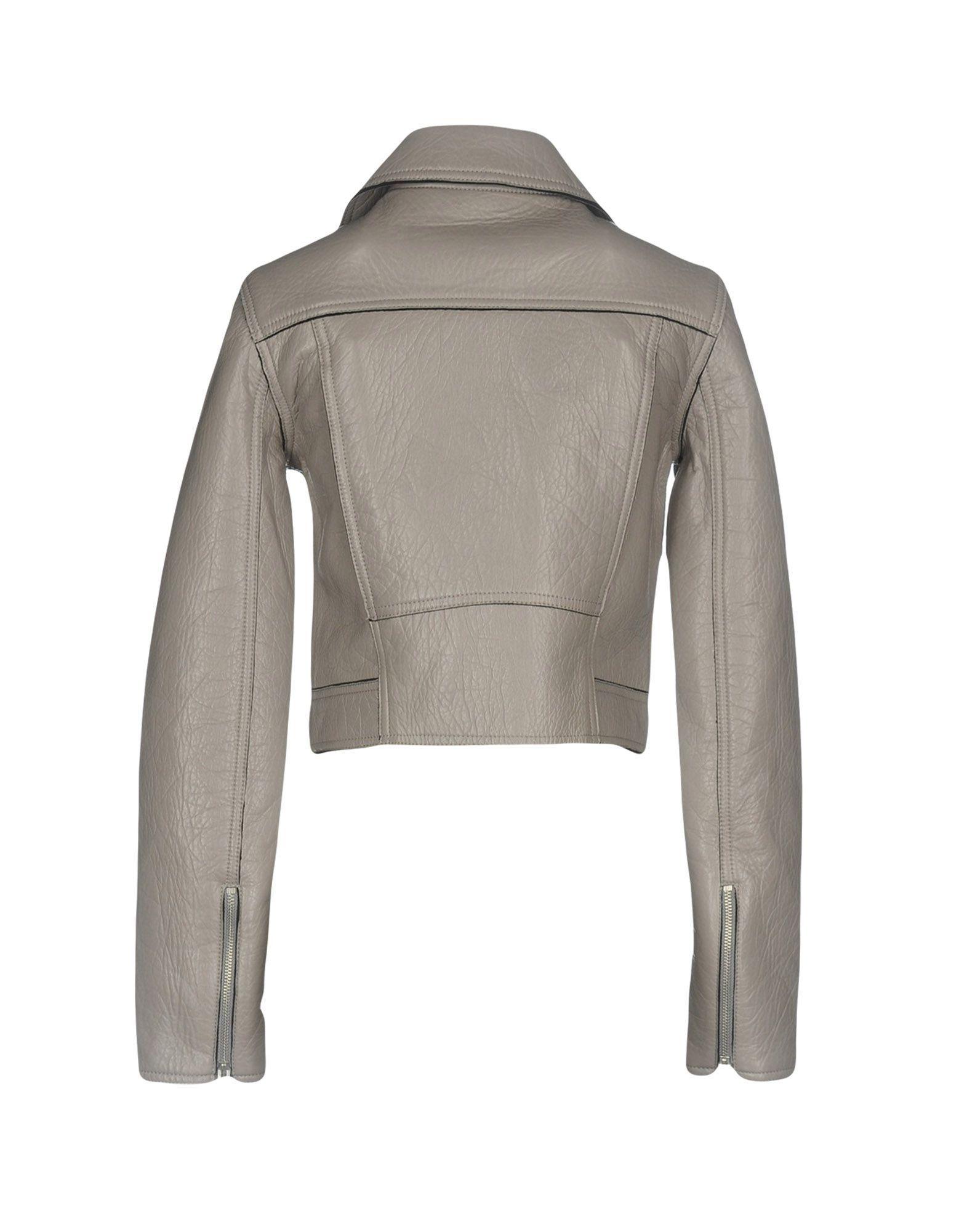 Alexanderwang.T Grey Lambskin Leather Biker Jacket