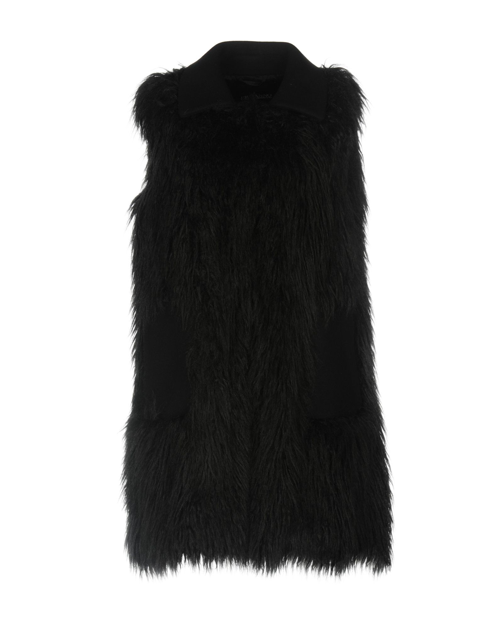 Ermanno Di Ermanno Scervino Black Faux Fur Sleeveless Jacket