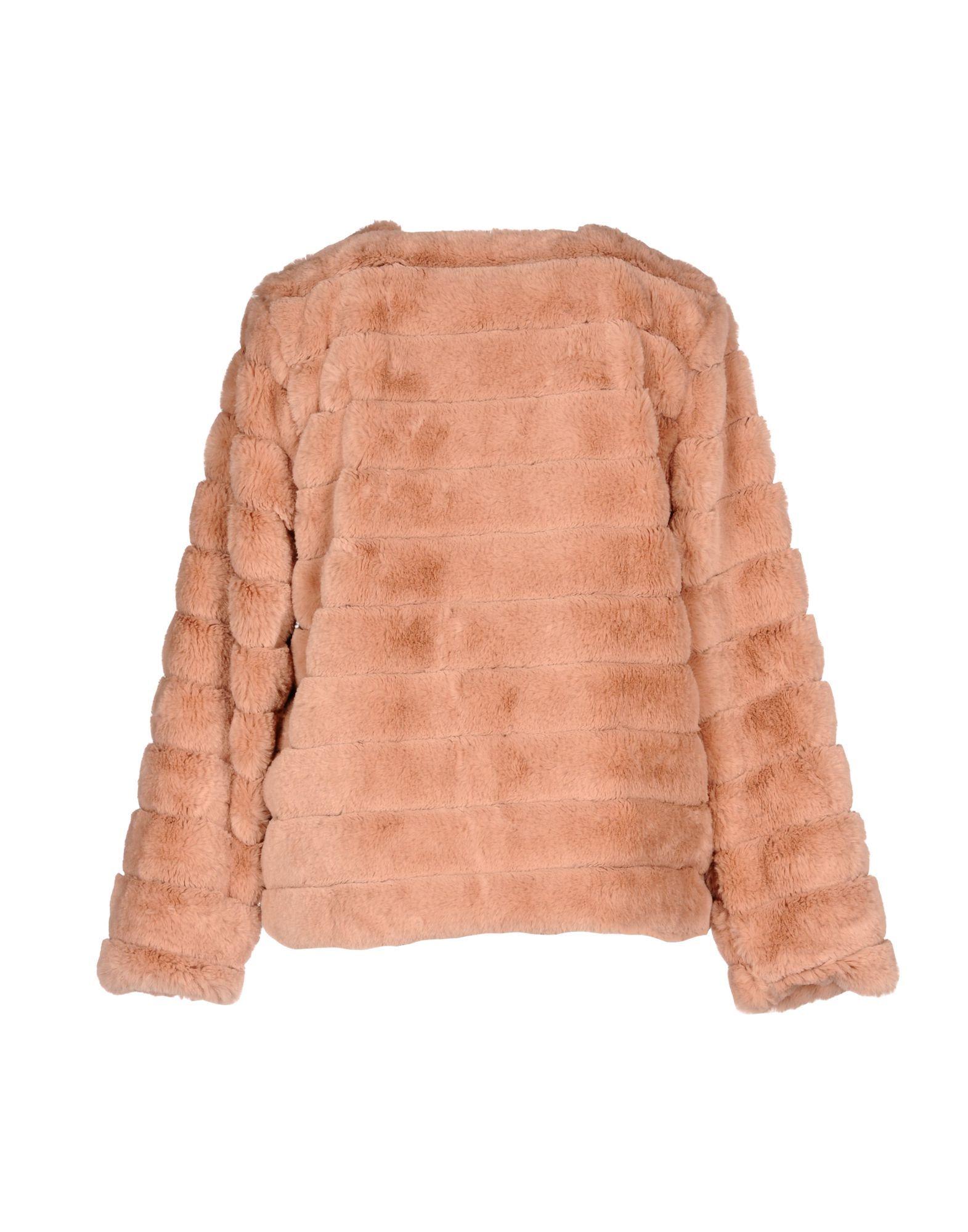 Kaos Jeans Pale Pink Faux Fur Jacket