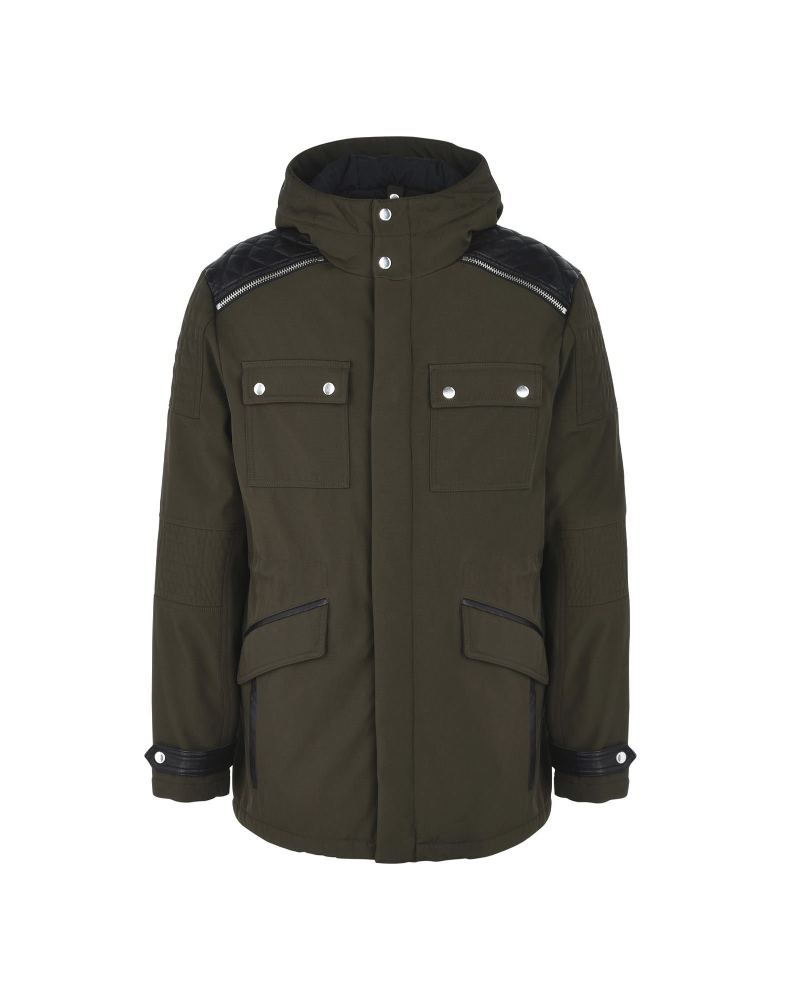 The Kooples Military Green Padded Overcoat