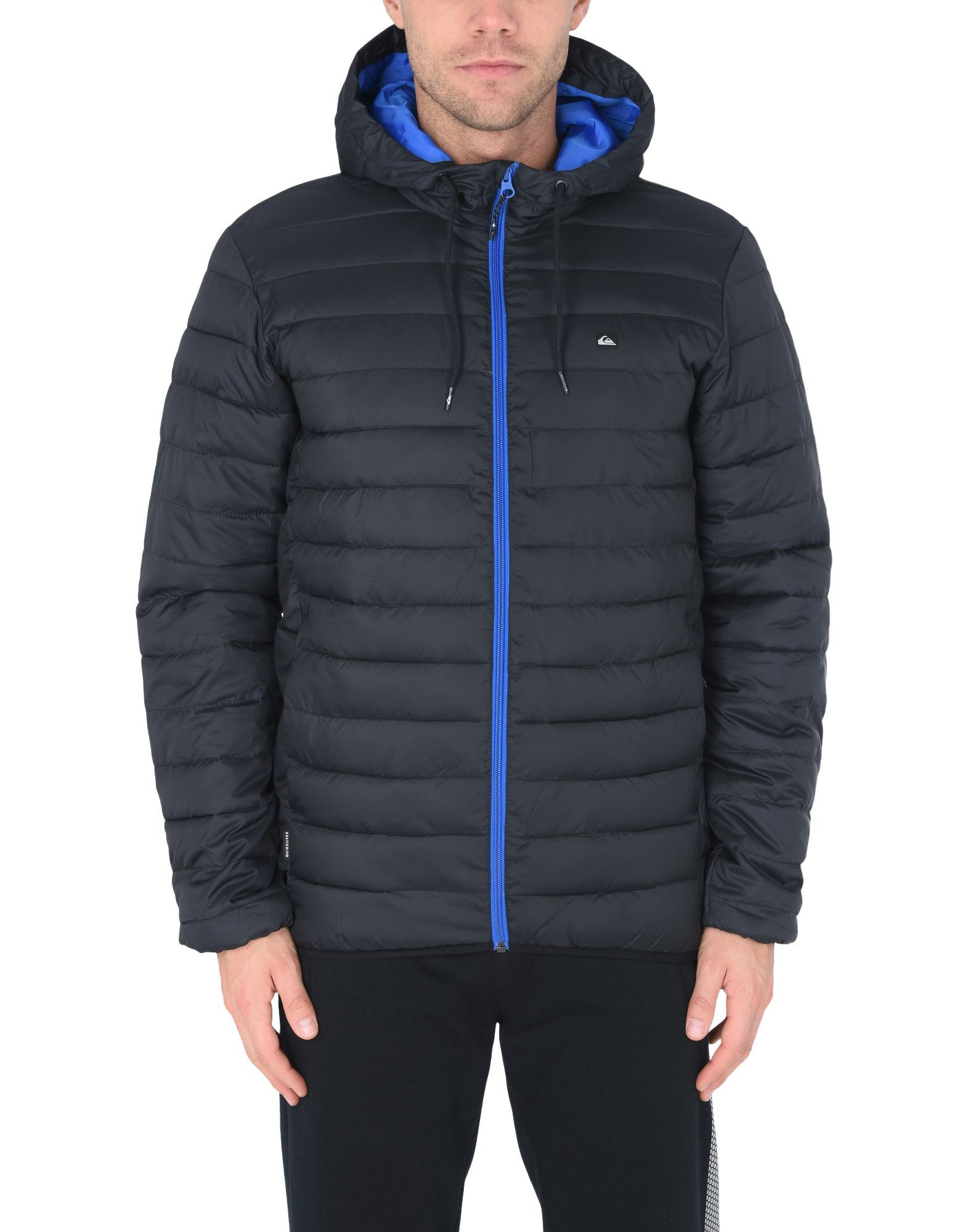 Quiksilver Black Techno Fabric Quilted Jacket