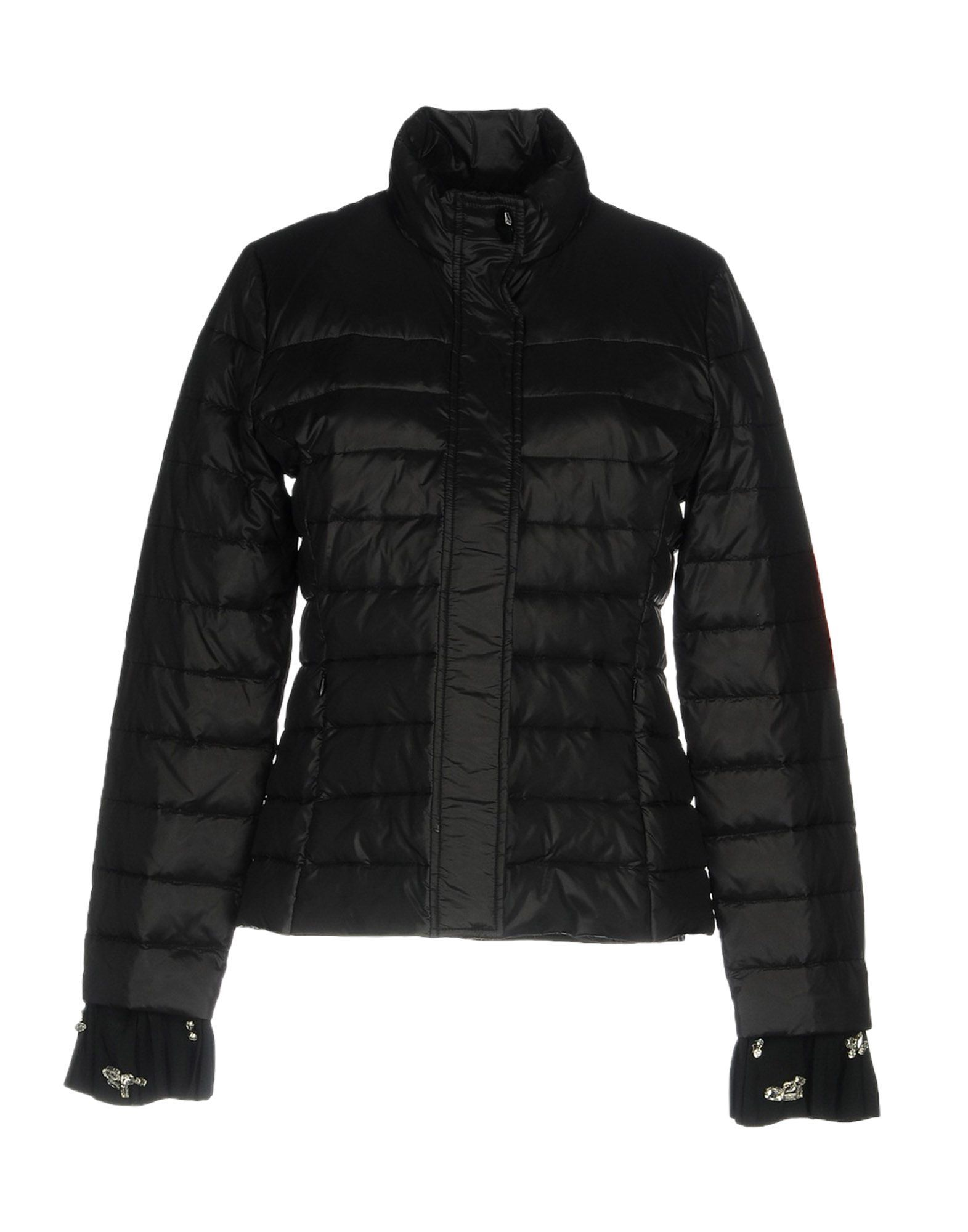 Cavalli Class Black Techno Fabric Padded Jacket