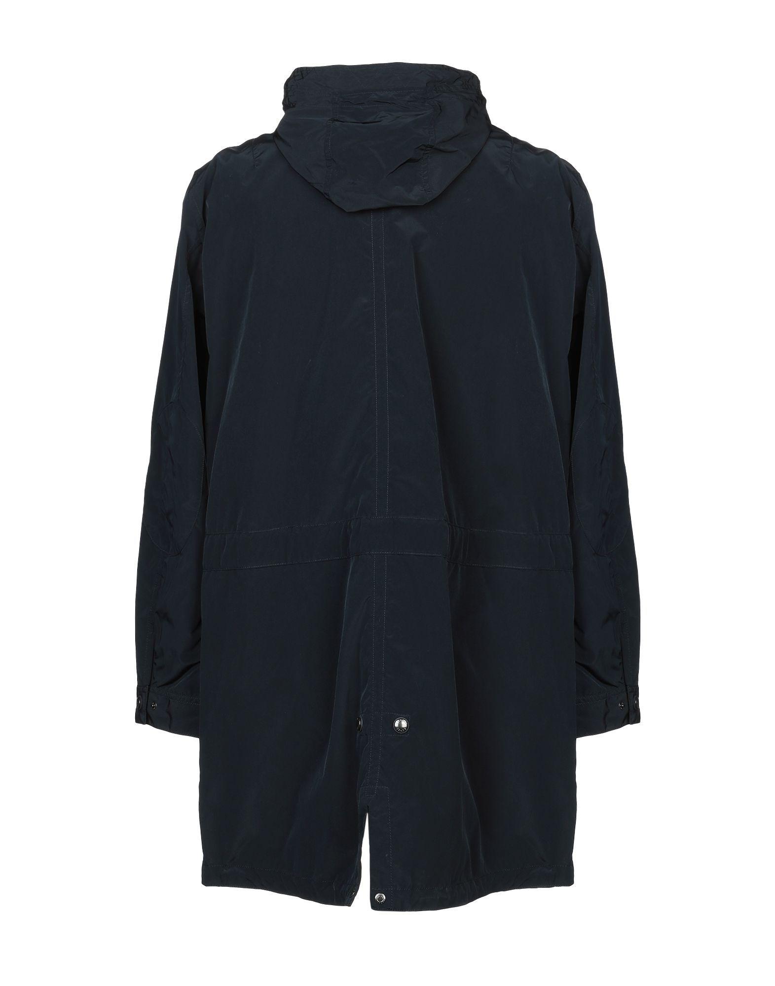 COATS & JACKETS Man Armani Jeans Dark blue Polyester