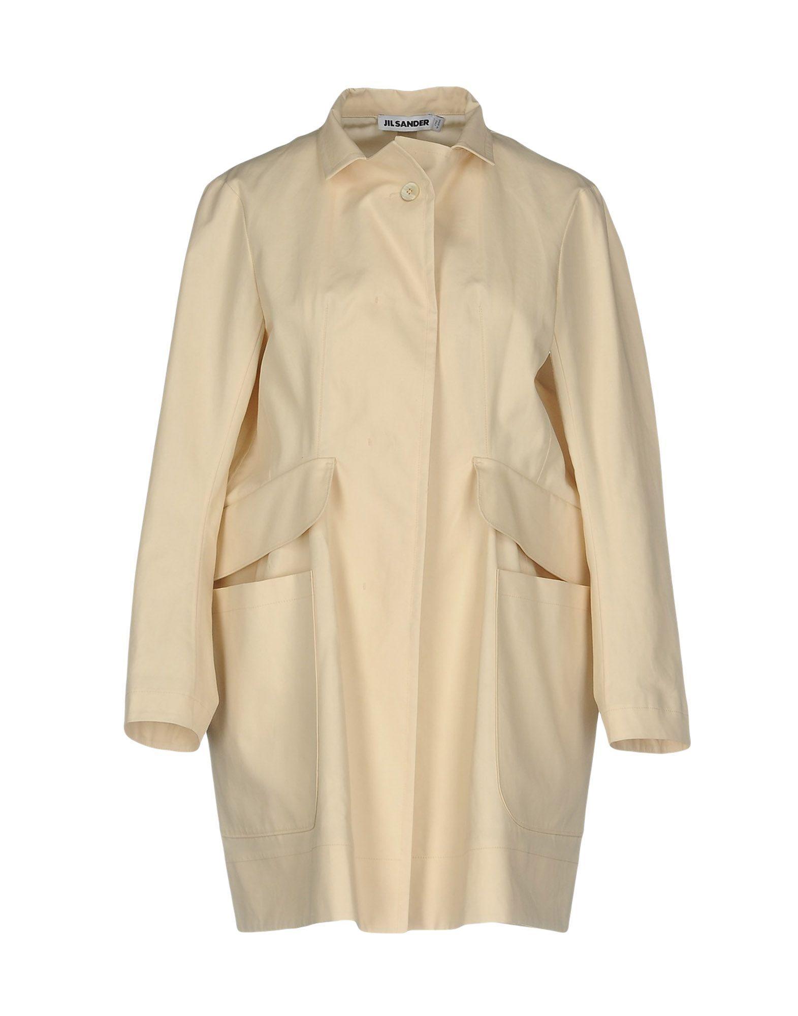Jil Sander Ivory Cotton Coat