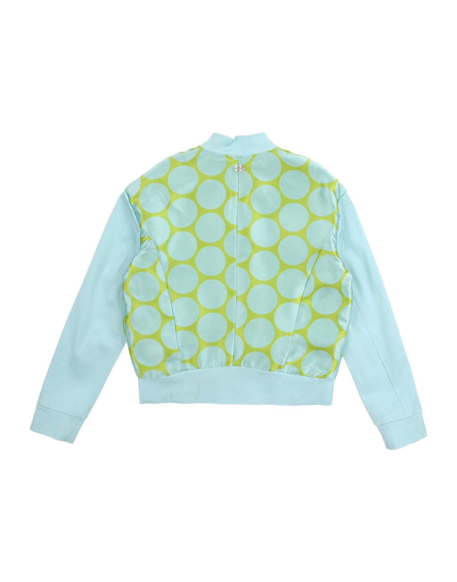 COATS & JACKETS Ki6? Pretty Turquoise Girl Polyester