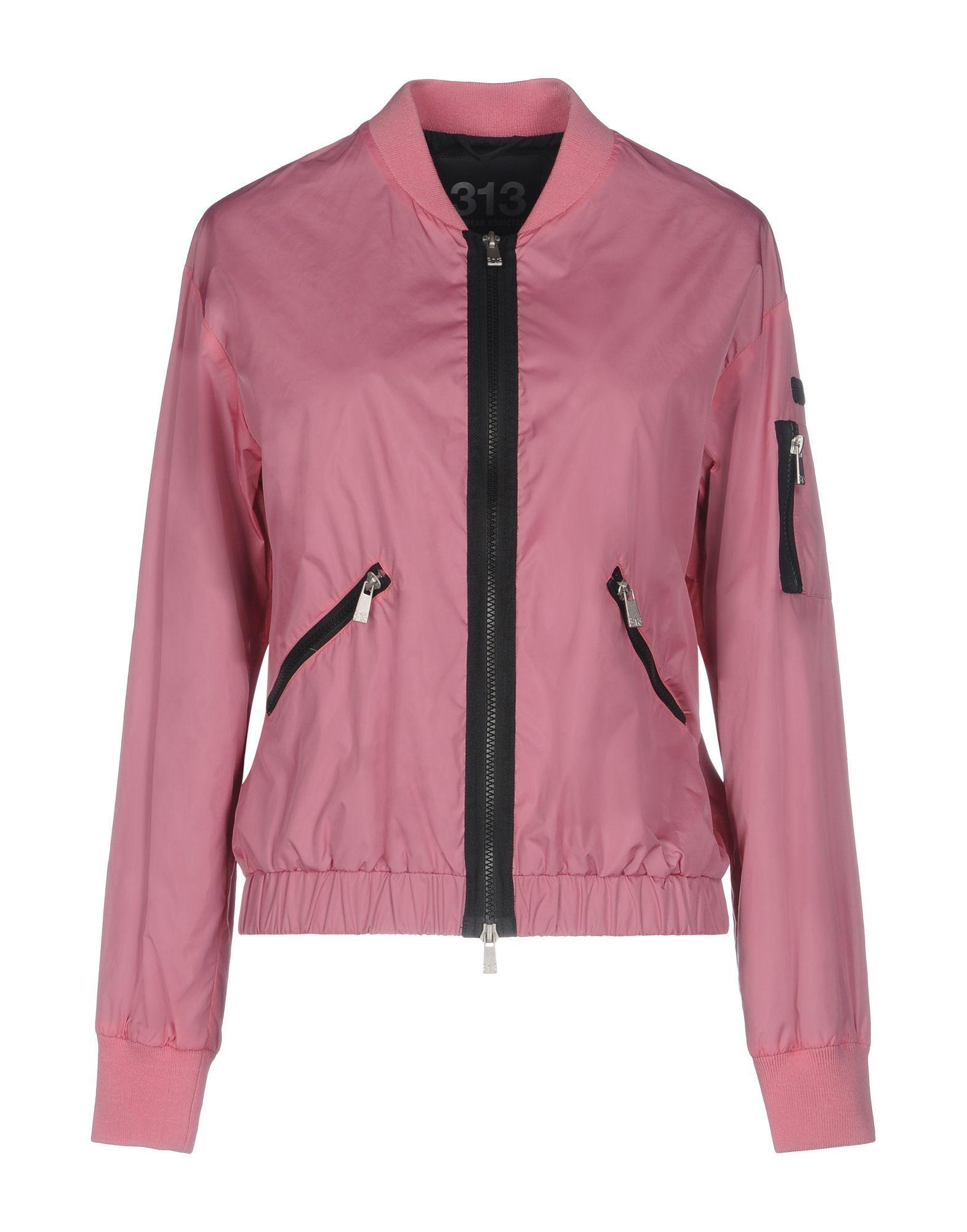 COATS & JACKETS 313 Tre Uno Tre Pastel pink Woman Polyamid