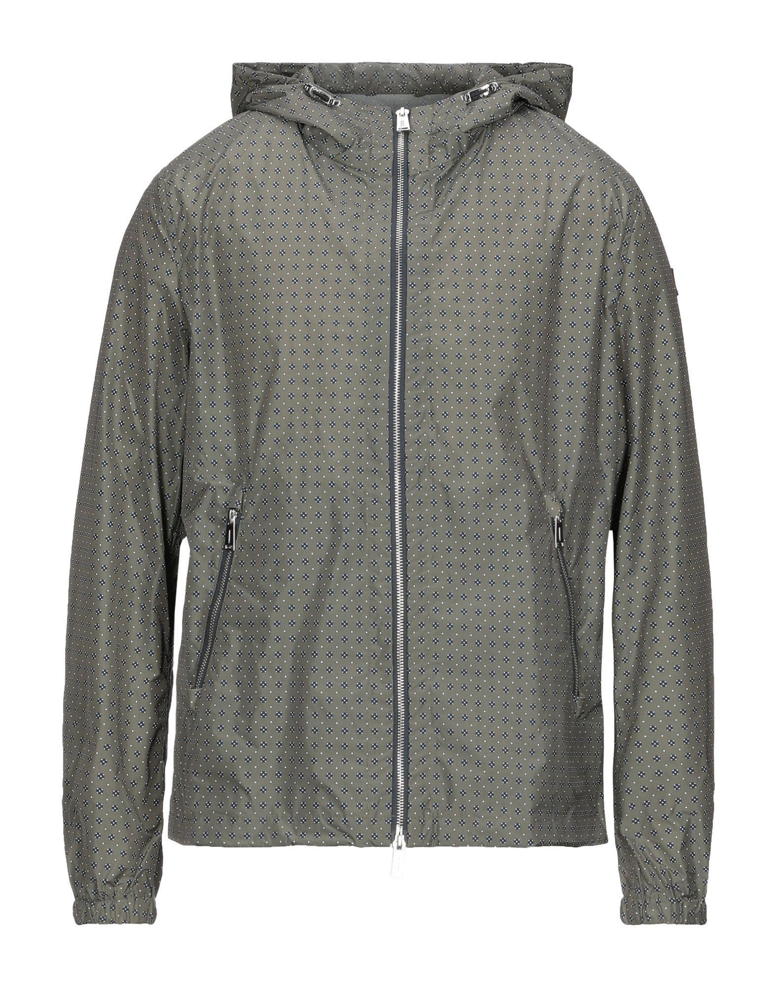 Add Military Green Techno Fabric Jacket