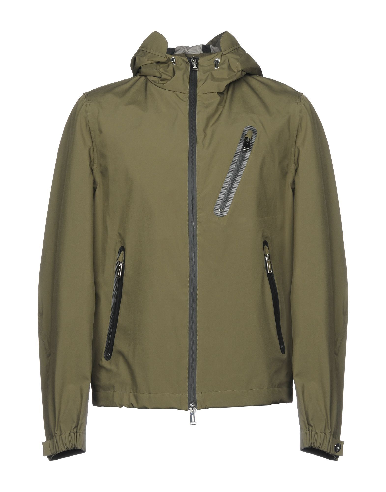 Add Military Green Techno Fabric Jacket