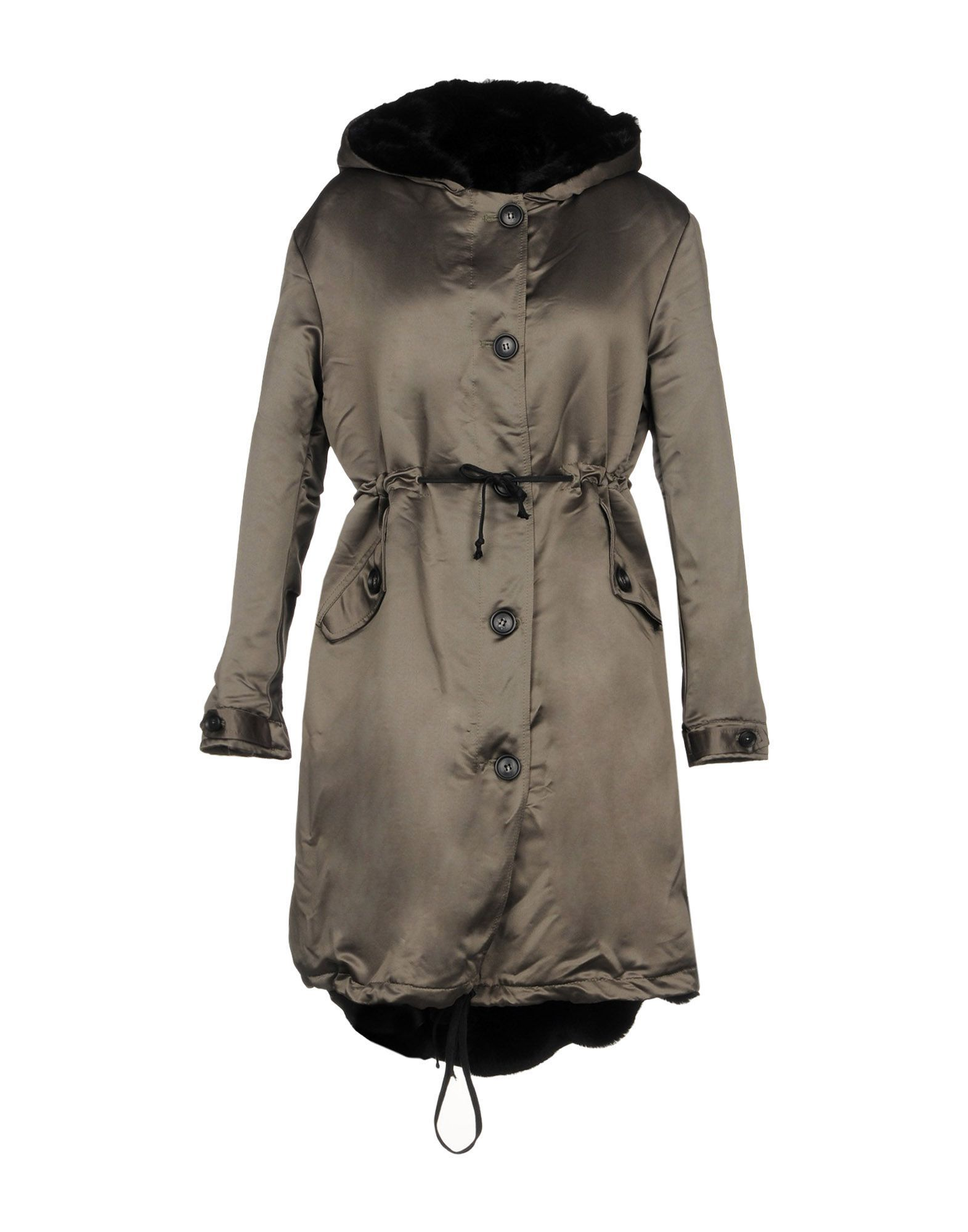 COATS & JACKETS Ainea Military green Woman Polyester
