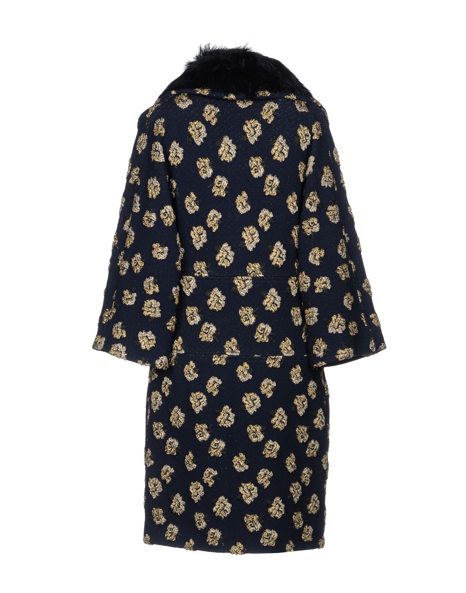 Blumarine Dark Blue Print Coat