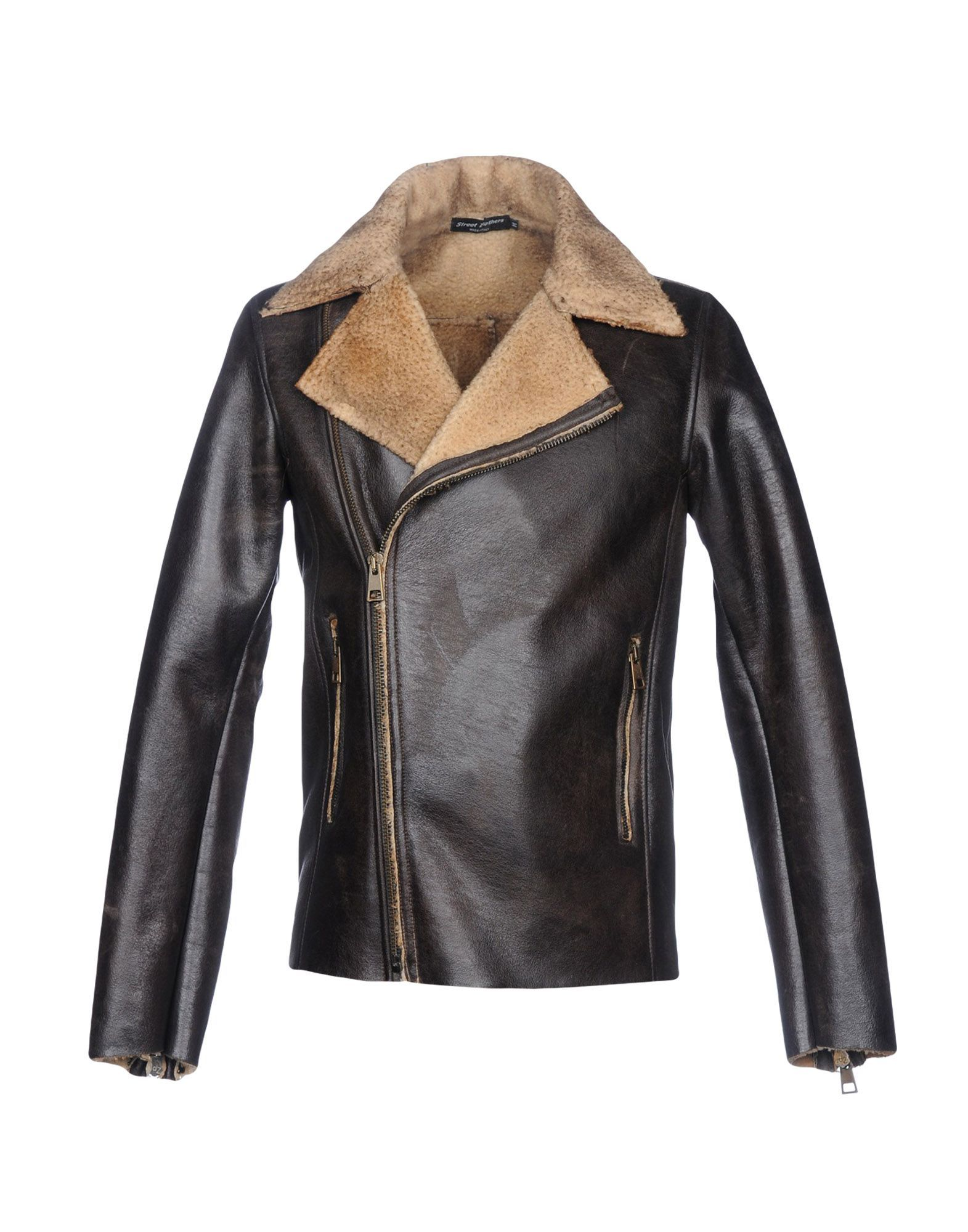 Street Leathers Dark Brown Men's Polyester Jacket