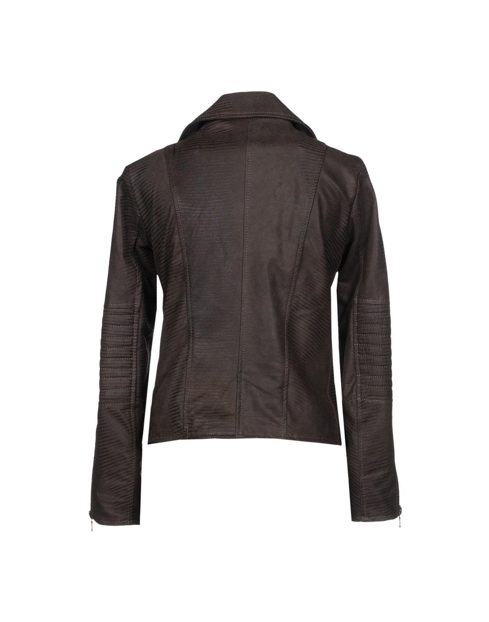 Coat & Jackets Street Leathers Dark Brown Women's Leather