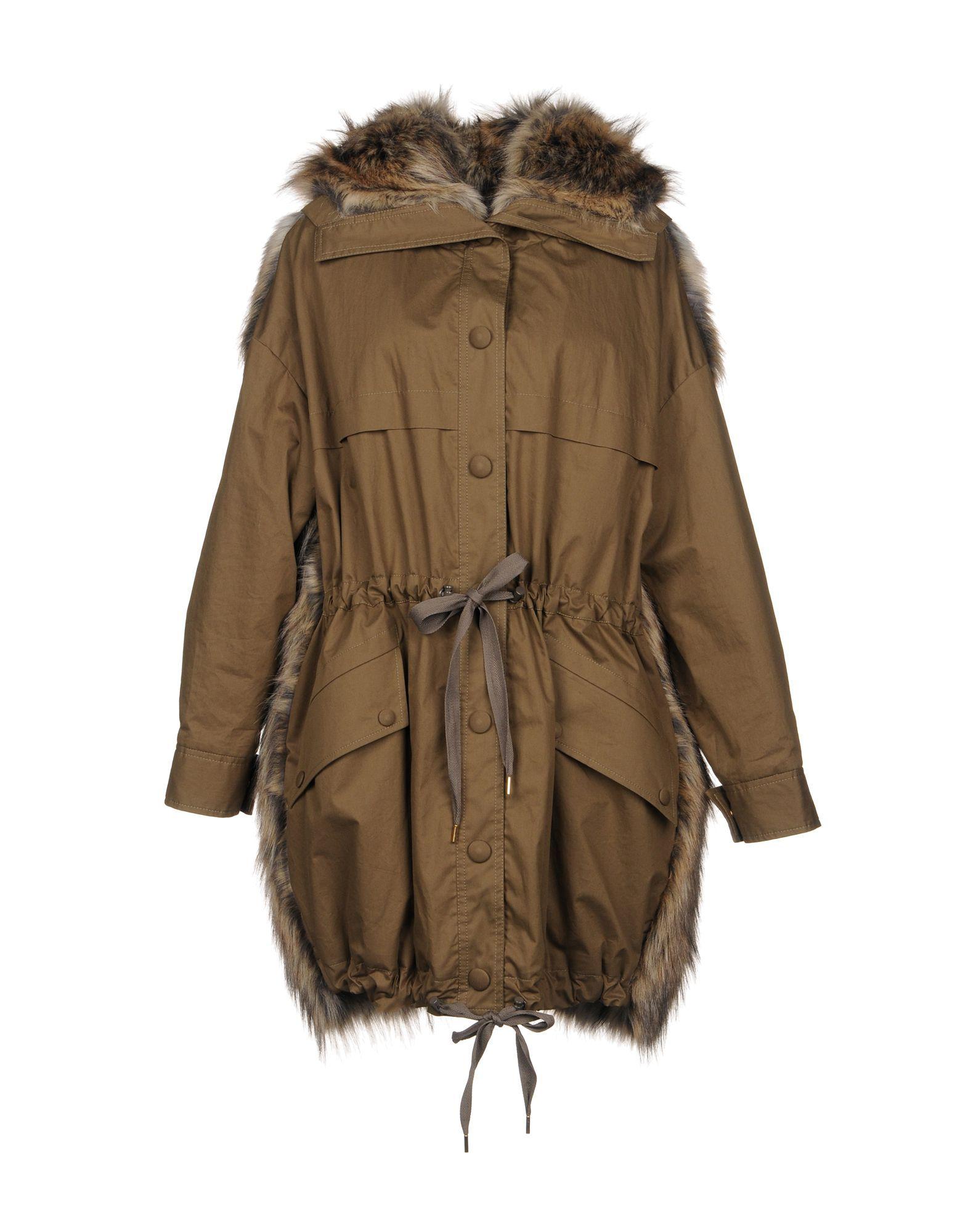 Stella McCartney Military Green Cotton Parka Jacket
