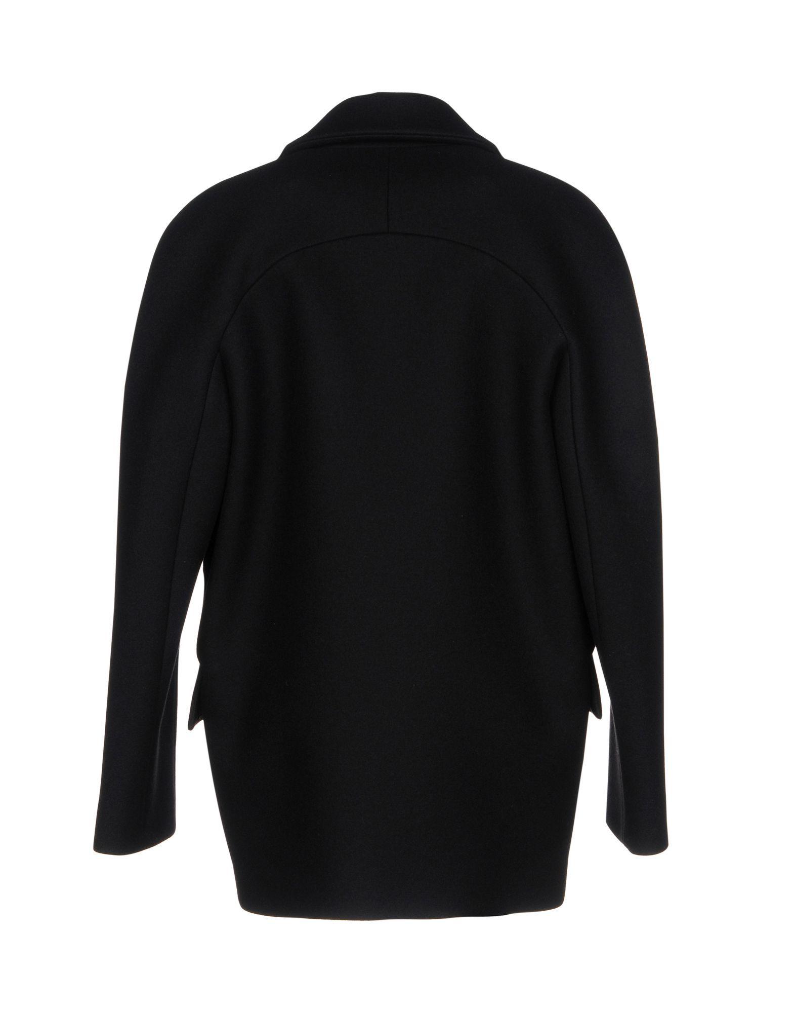 Michael Kors Collection Black Virgin Wool Coat