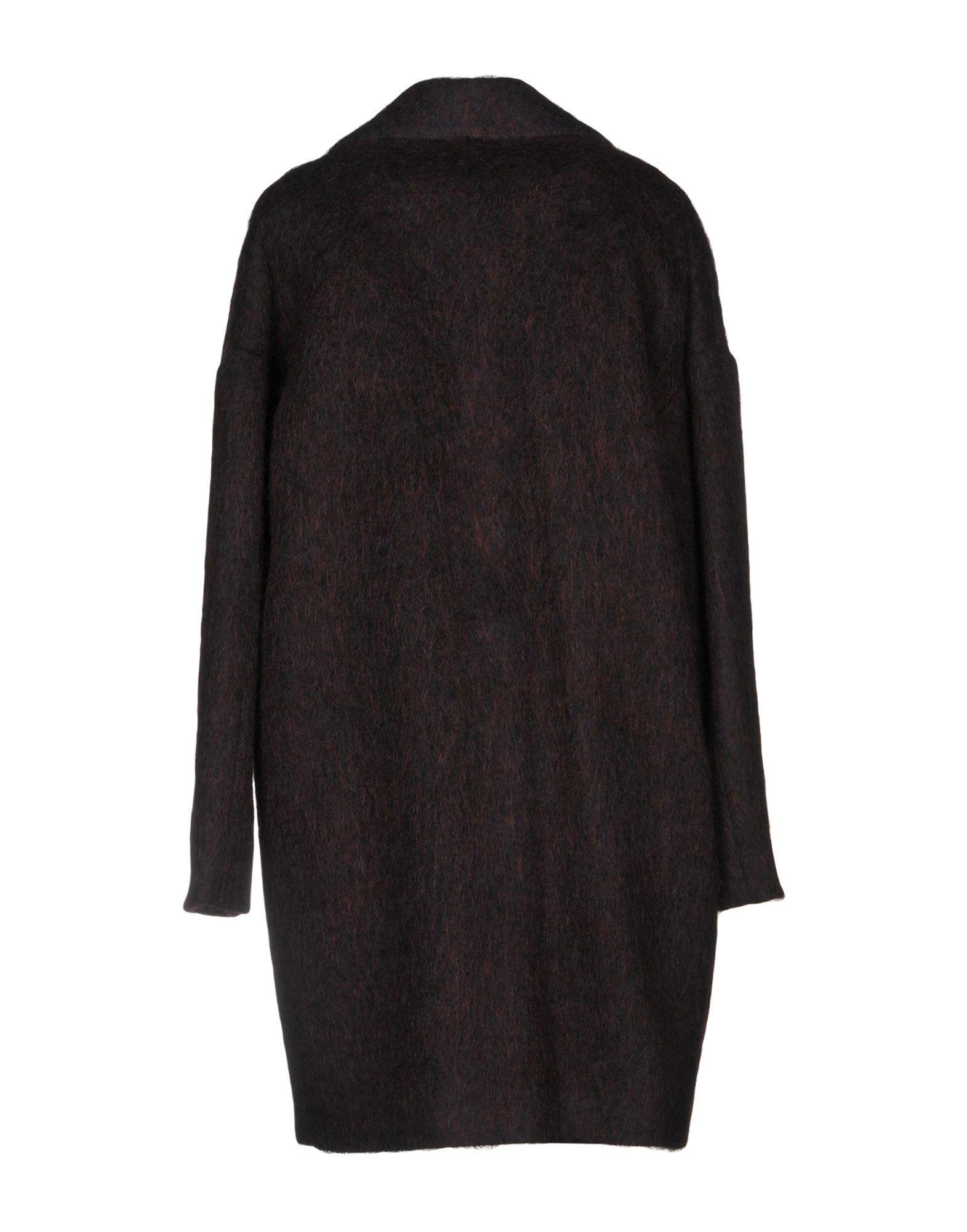 Kaos Jeans Deep Purple Wool Coat