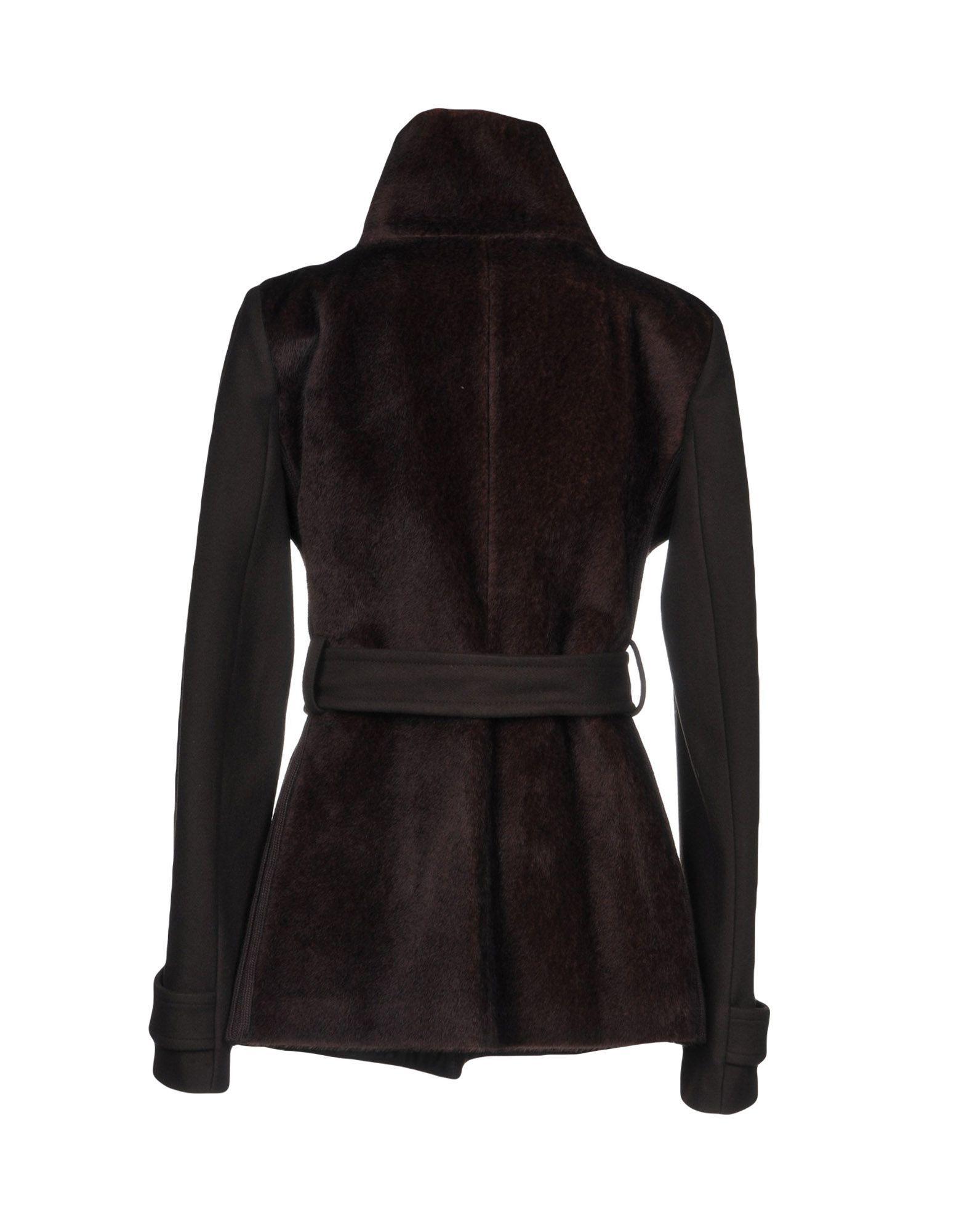 Pinko Dark Brown Belted Jacket