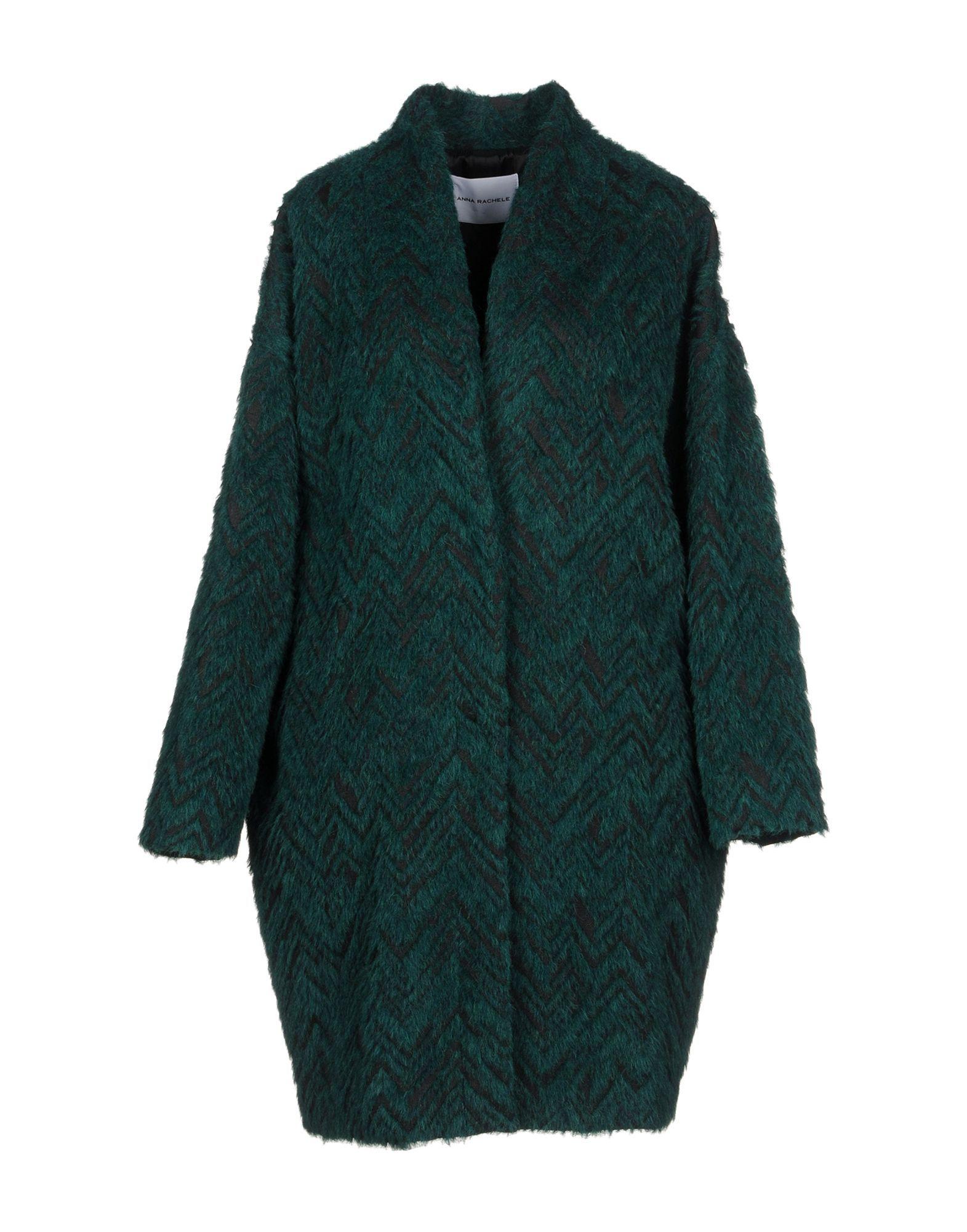 Anna Rachele Dark Green Wool Coat