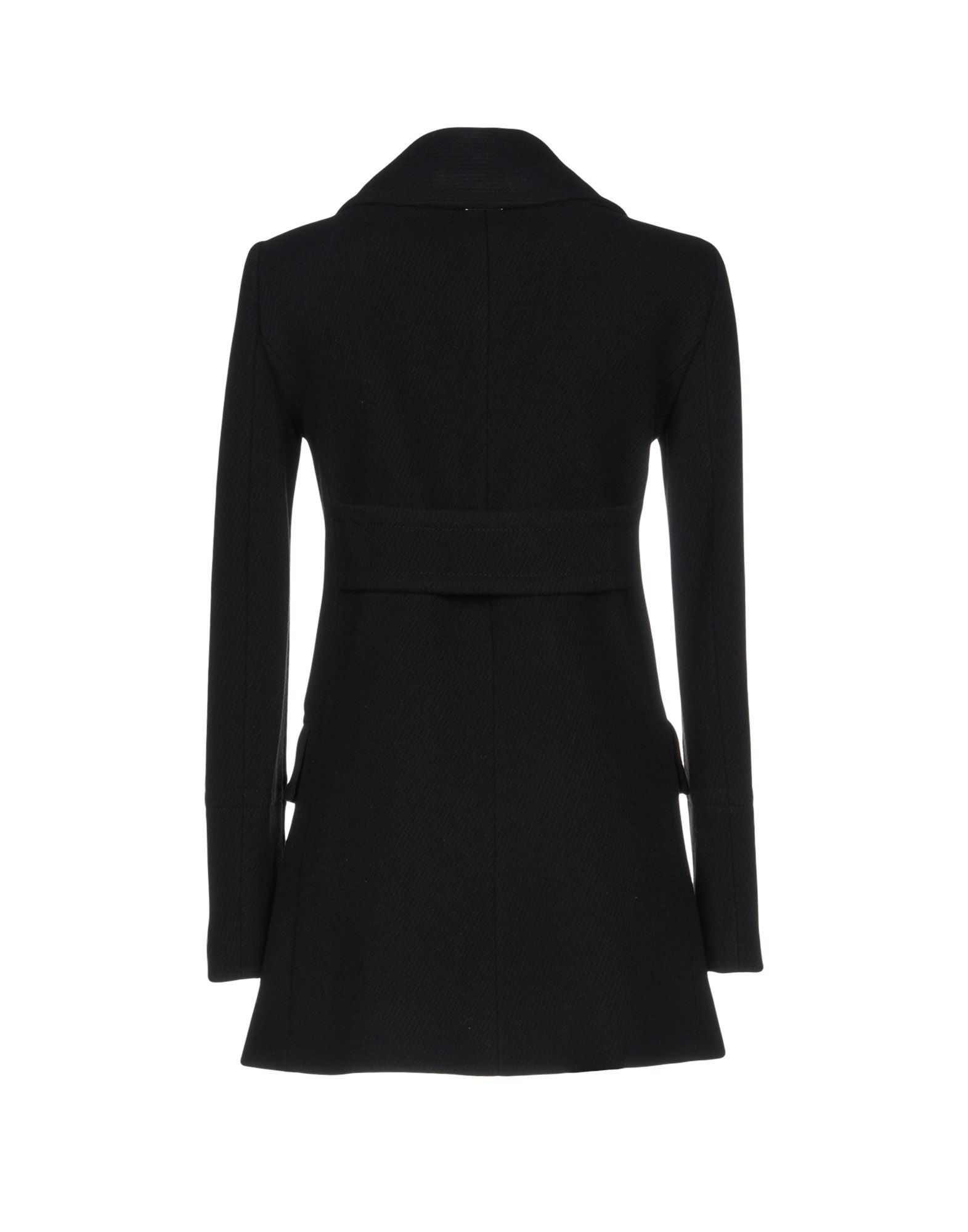 Twinset Black Wool Double Breasted Coat