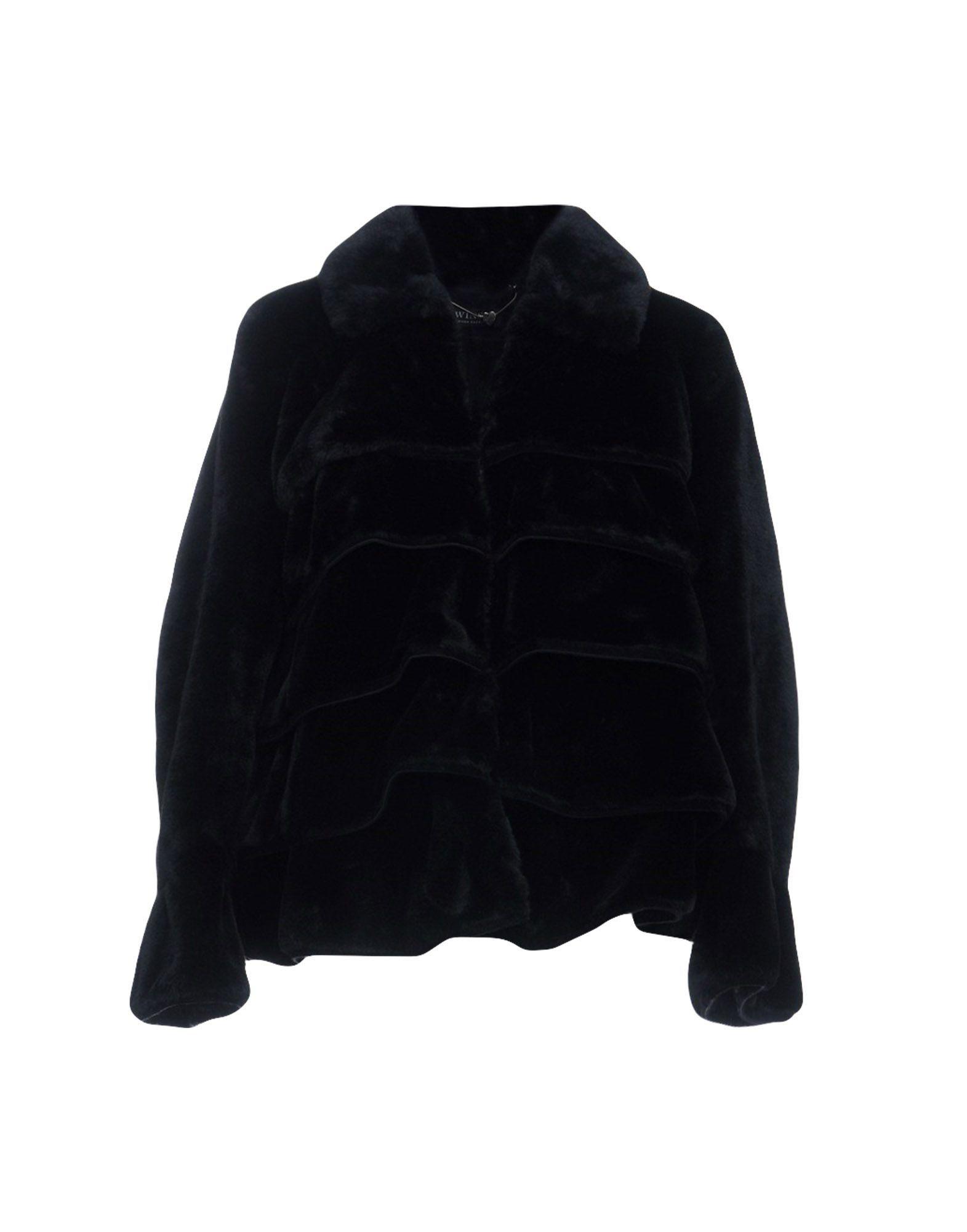 Twinset Black Faux Fur Jacket
