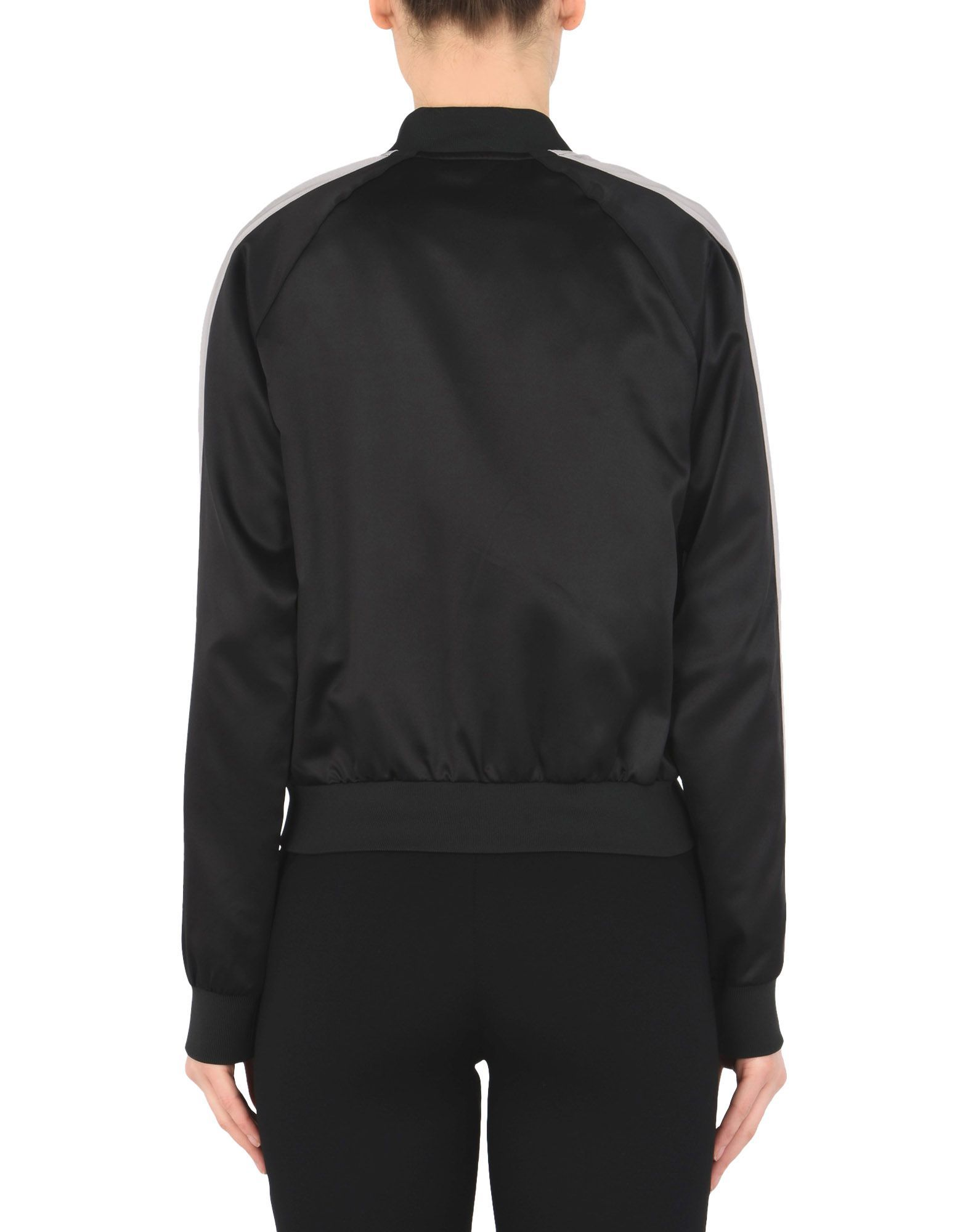 Puma Black Satin Bomber Jacket