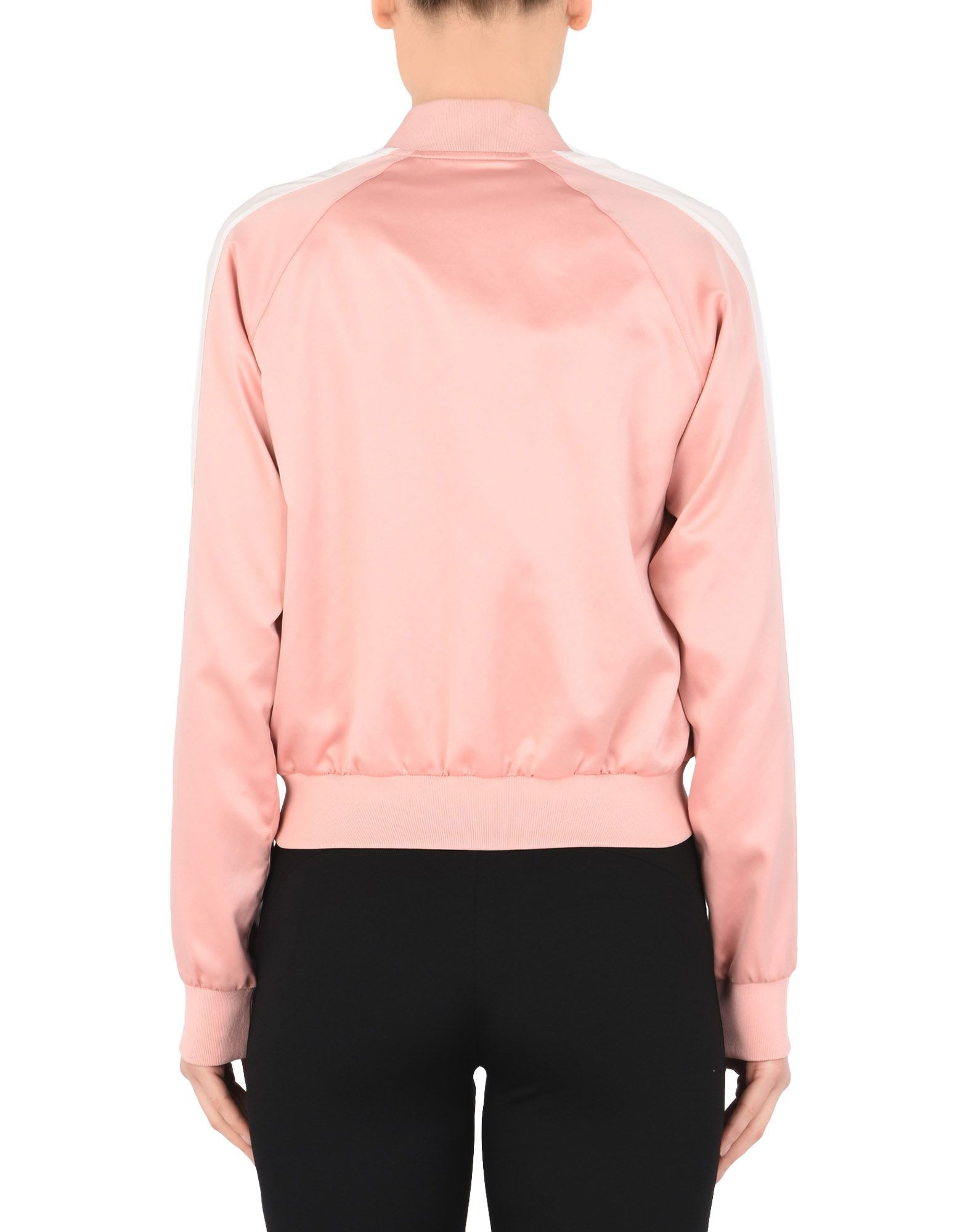 Puma Light Pink Satin Bomber Jacket