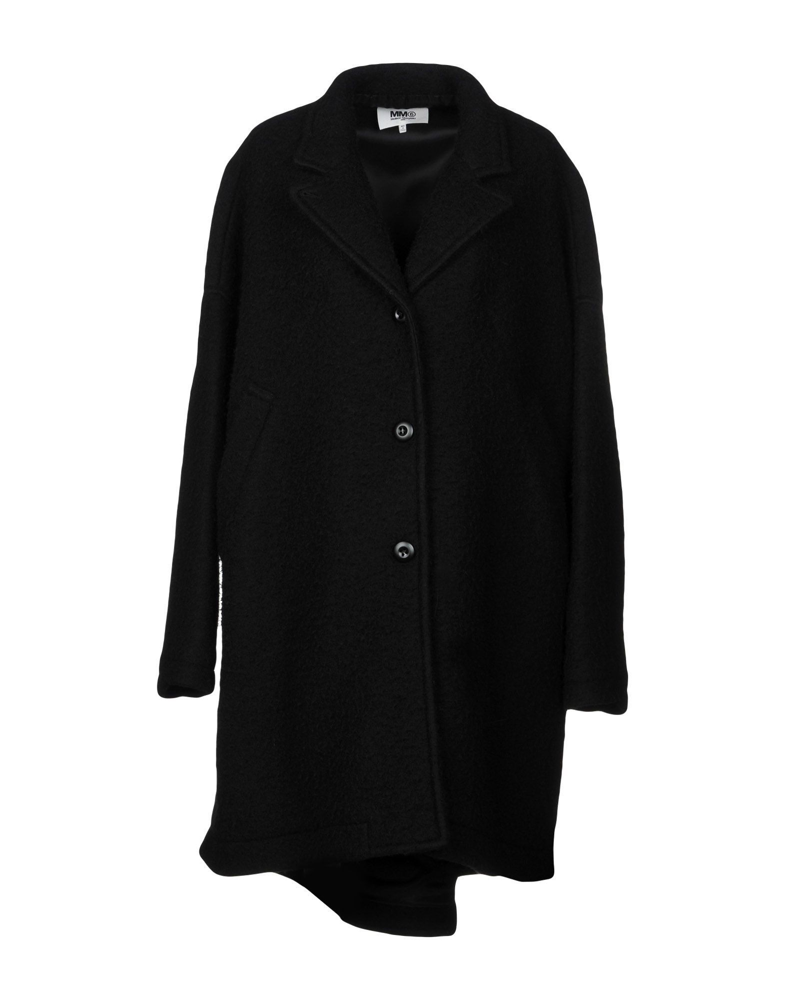 MM6 Maison Margiela Black Virgin Wool Overcoat