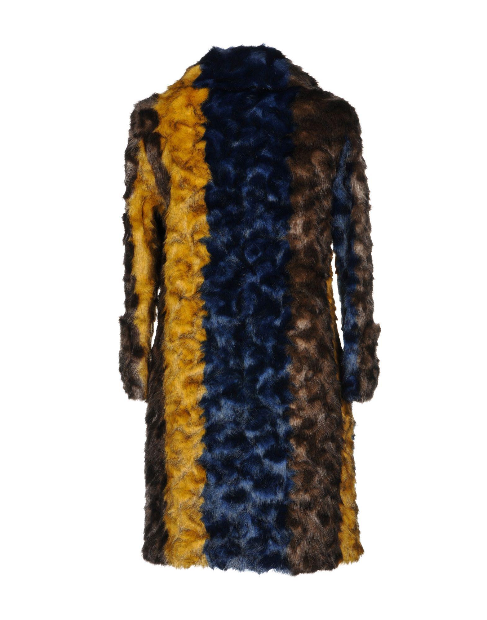 COATS & JACKETS Frankie Morello Dark brown Woman Modacrylic