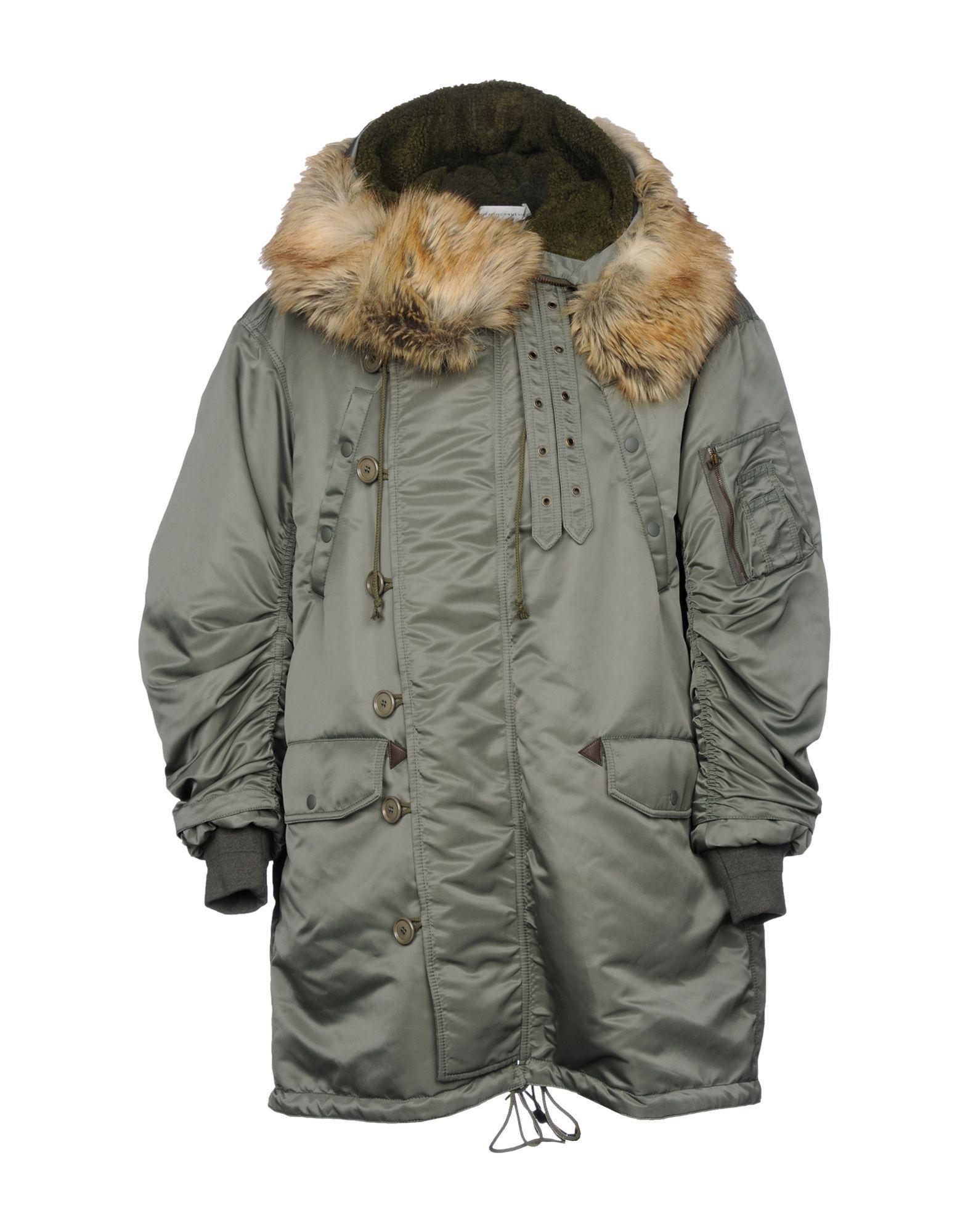 Faith Connexion Military Green Faux Fur Parka Jacket