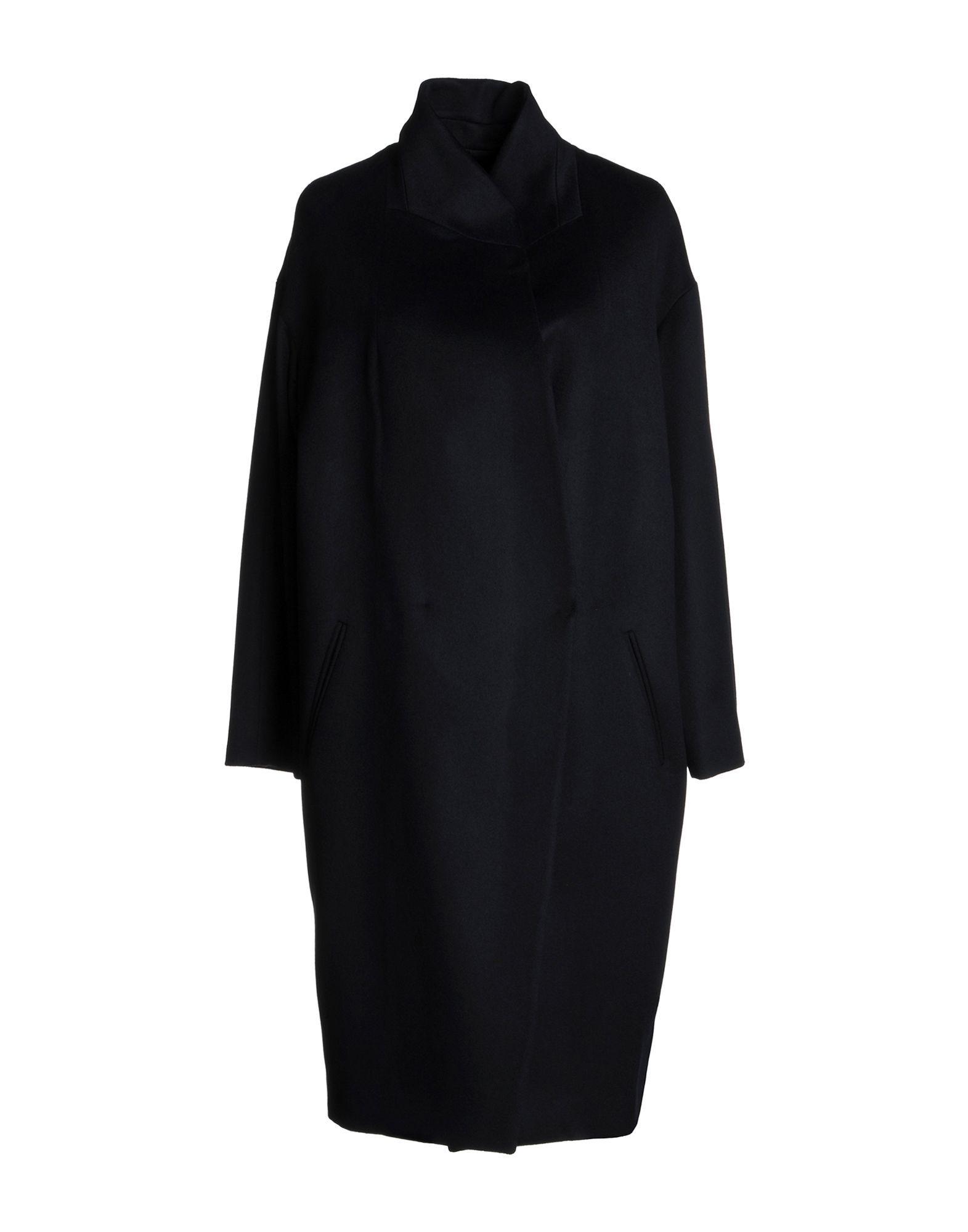 COATS & JACKETS Brian Dales Dark blue Woman Wool