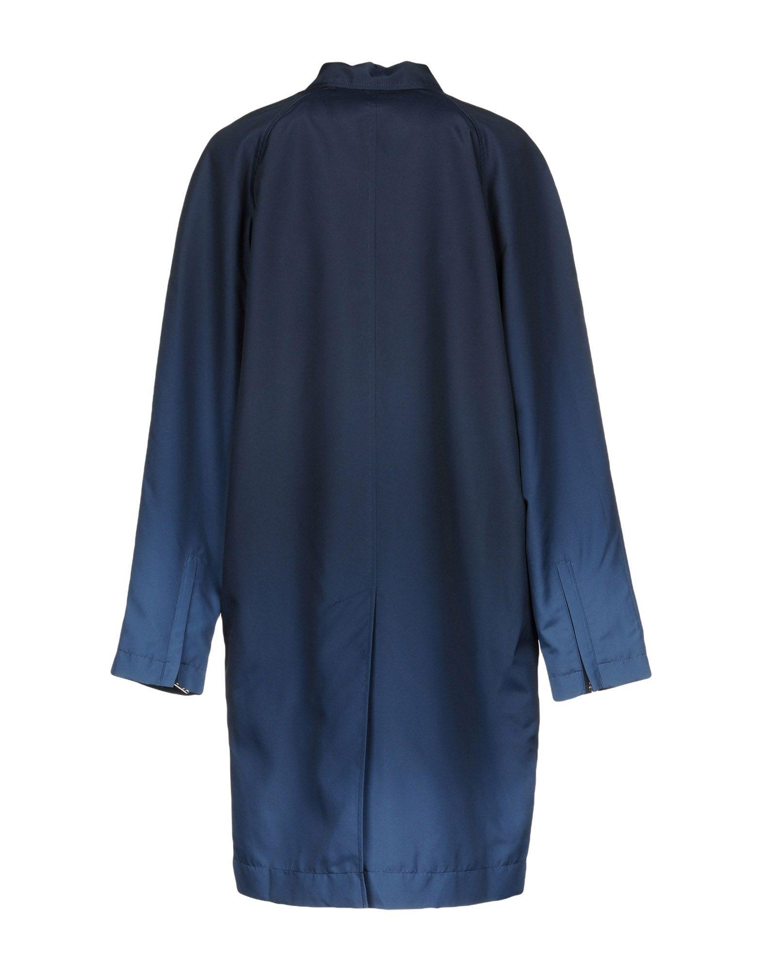 Wood Wood Dark Blue Techno Fabric Overcoat