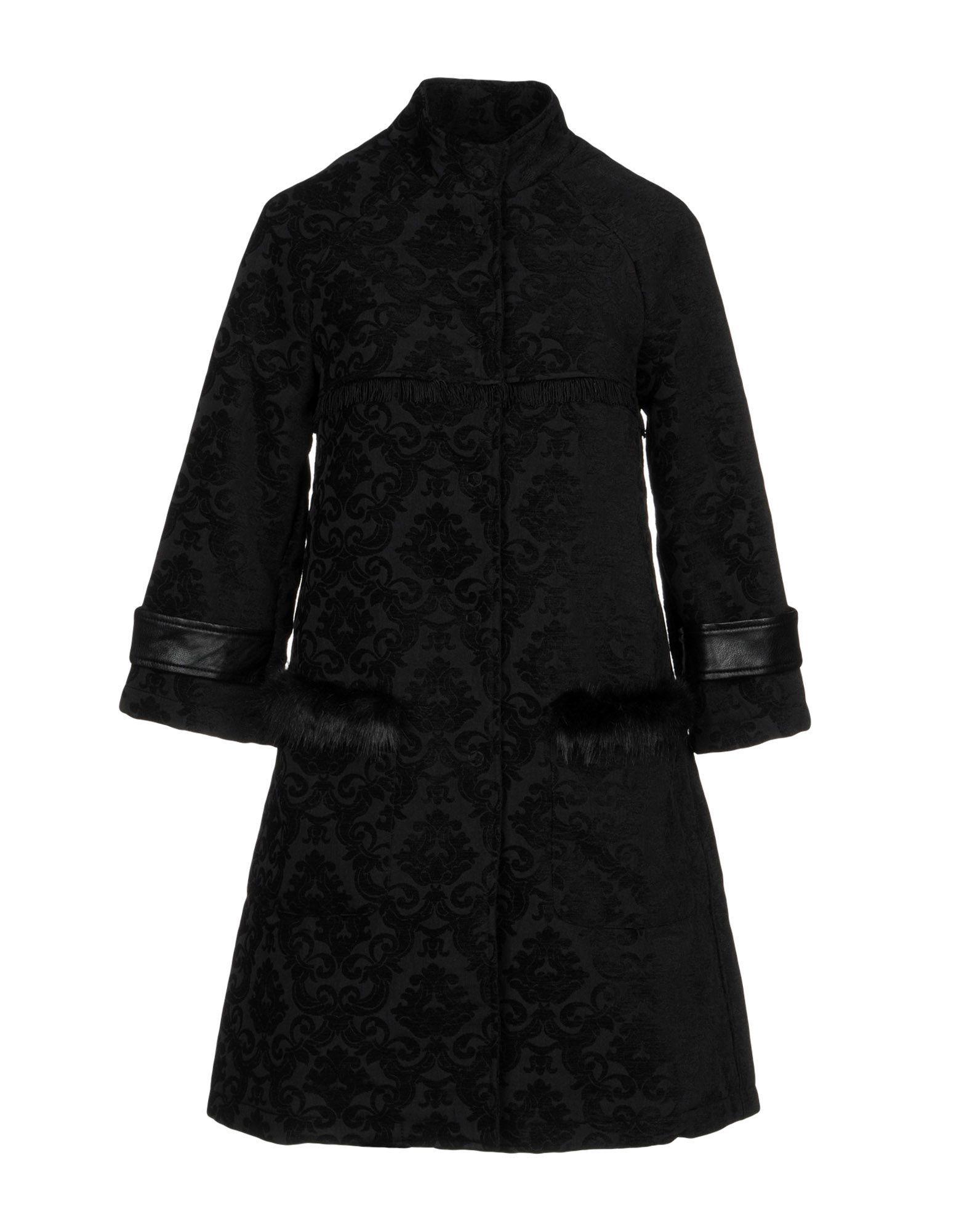 Fornarina Black Faux Fur Overcoat