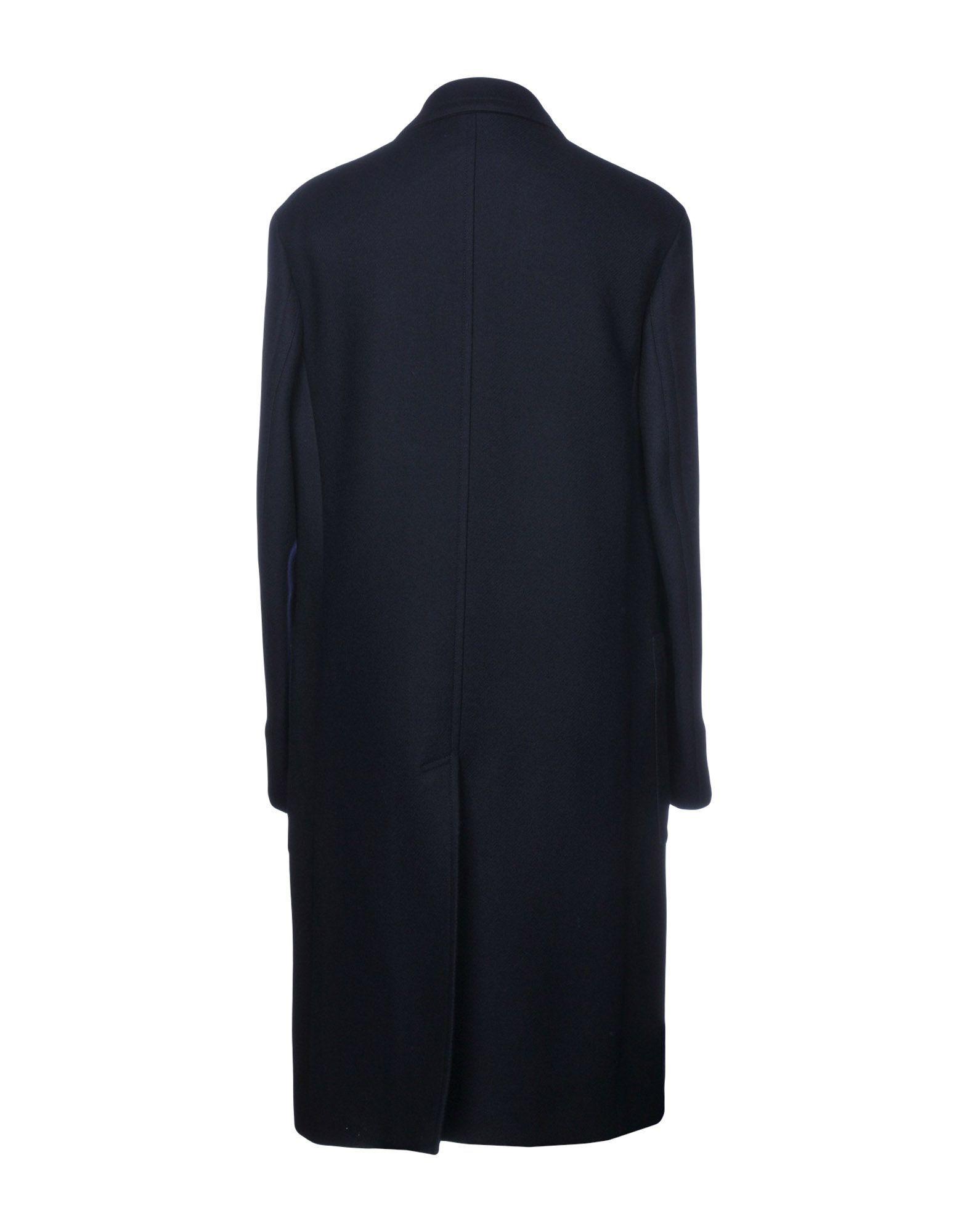 Maison Margiela Dark Blue Virgin Wool Overcoat