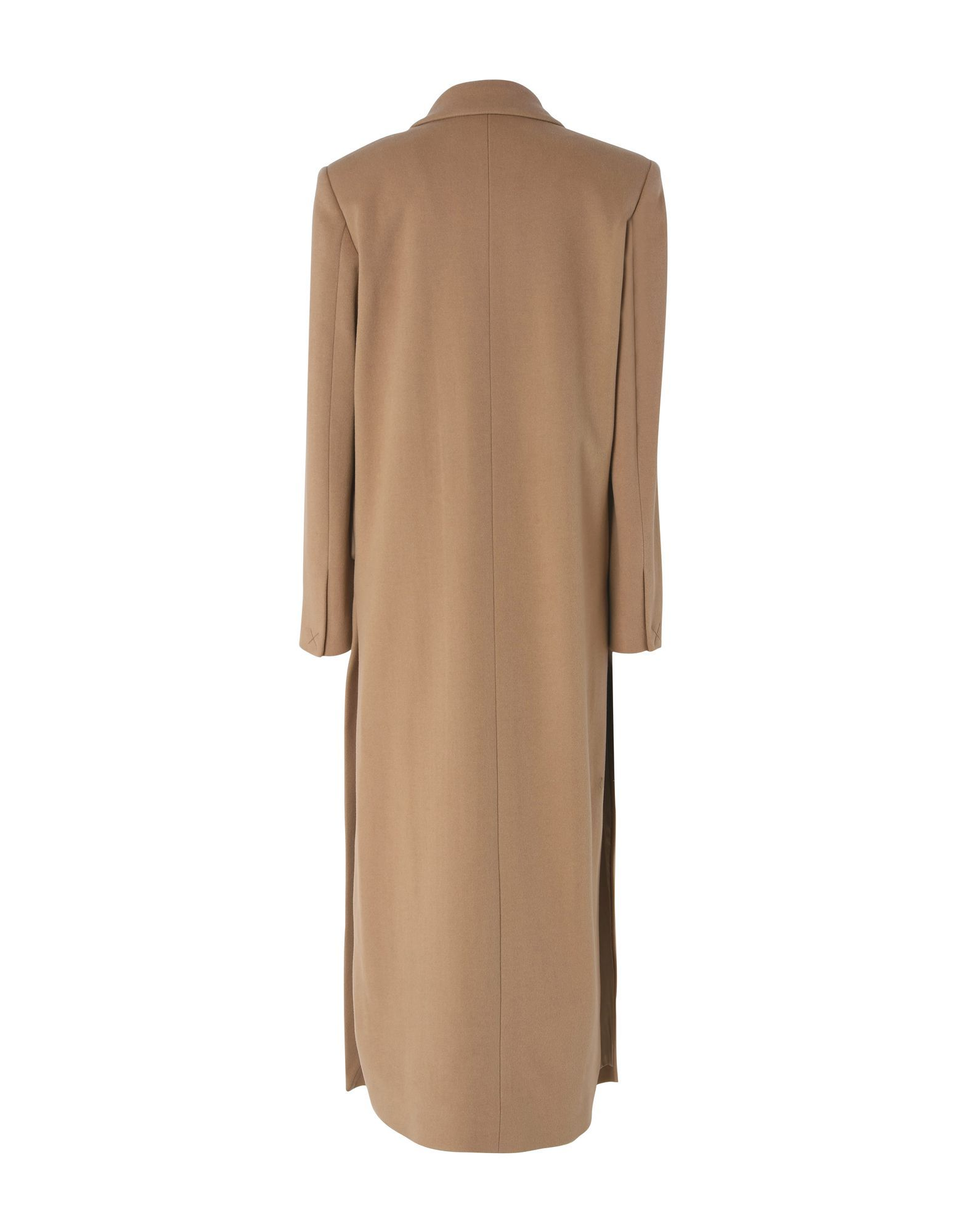 Mauro Grifoni Beige Wool Double Breasted Full Length Overcoat