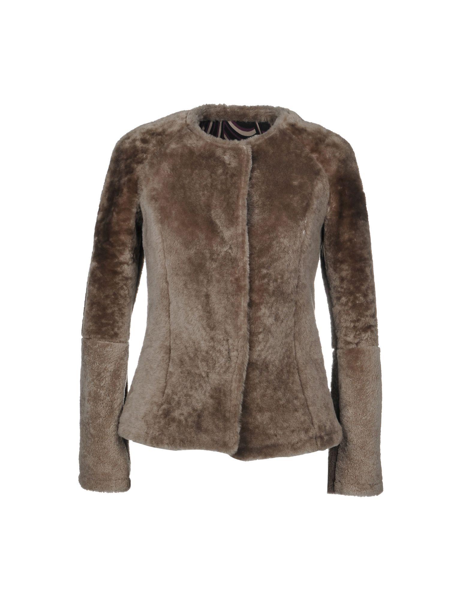 Coat & Jackets Blouson Khaki Women's Pelliccia Di Agnello