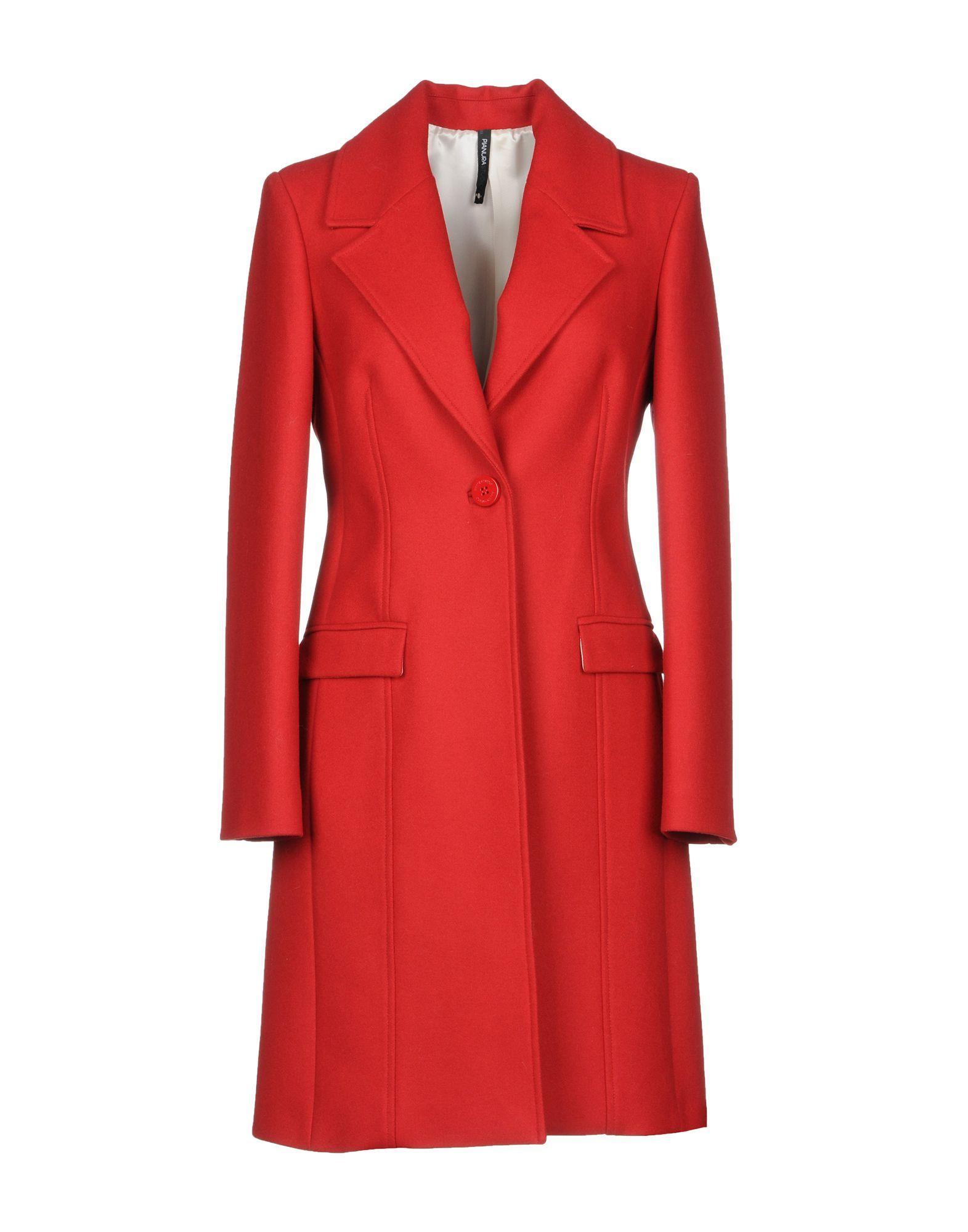 COATS & JACKETS Pianurastudio Red Woman Wool