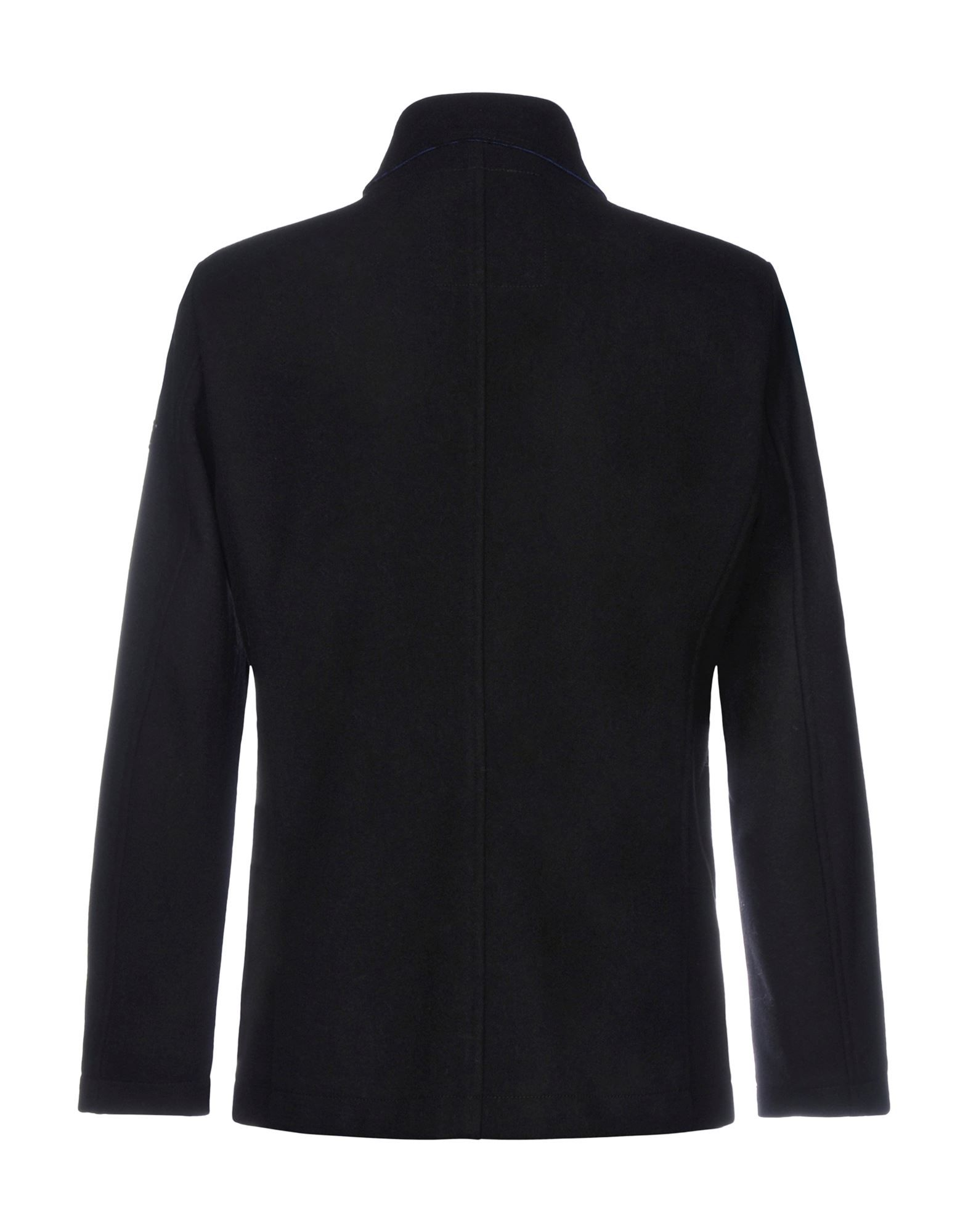 Armani Jeans Black Wool Double Breasted Coat