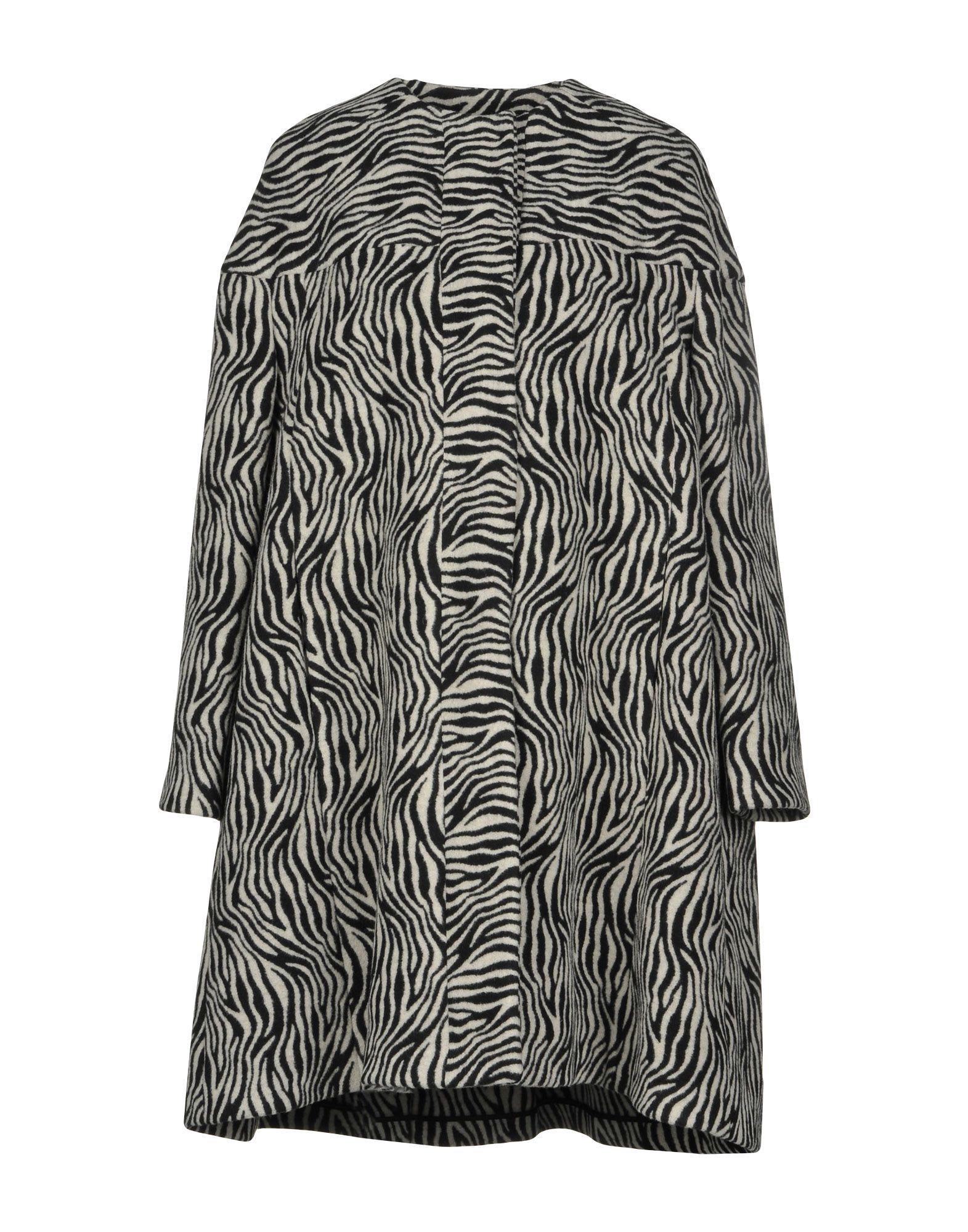 L' Autre Chose Light Grey Pattern Coat