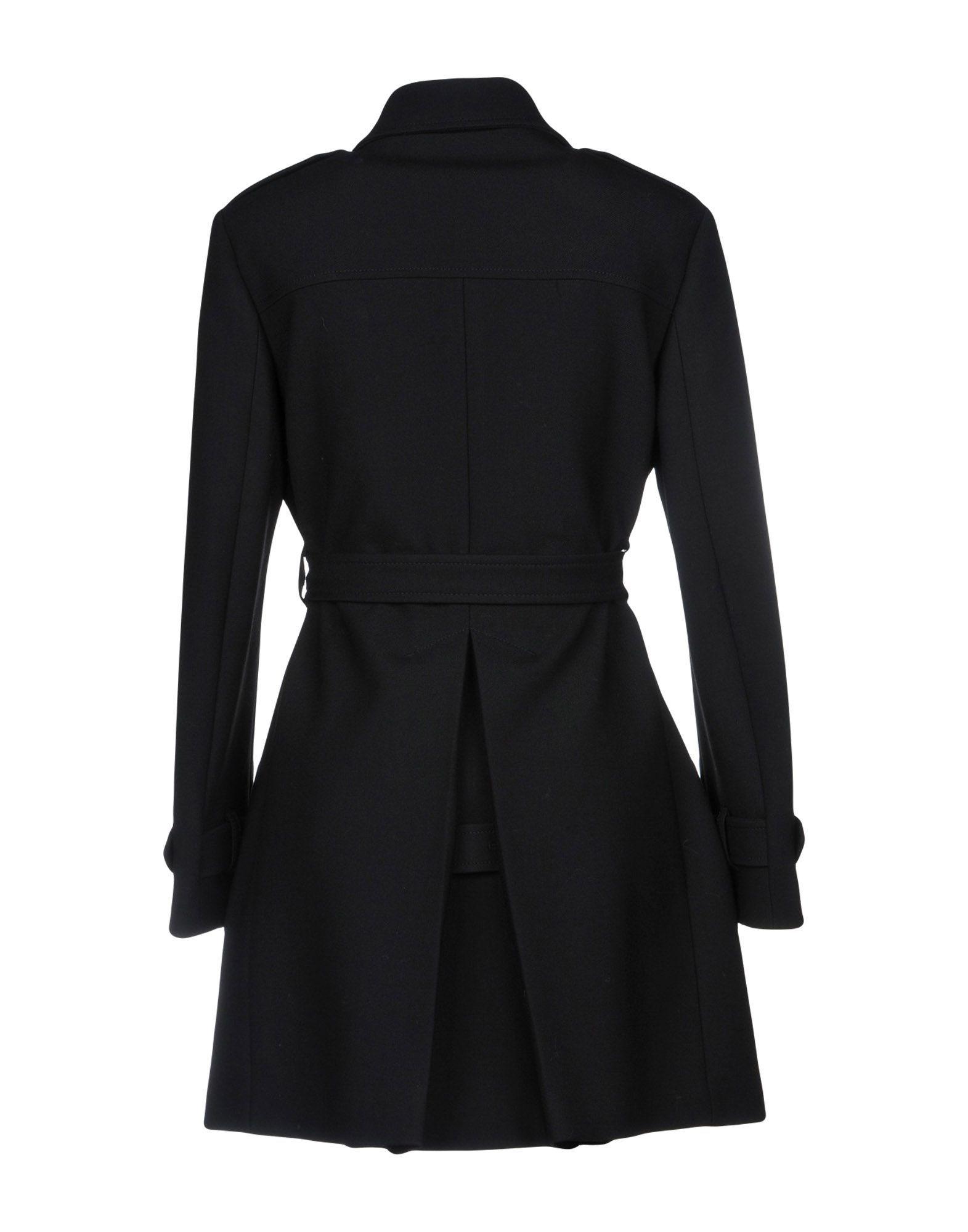 Redvalentino Black Cotton Double Breasted Coat