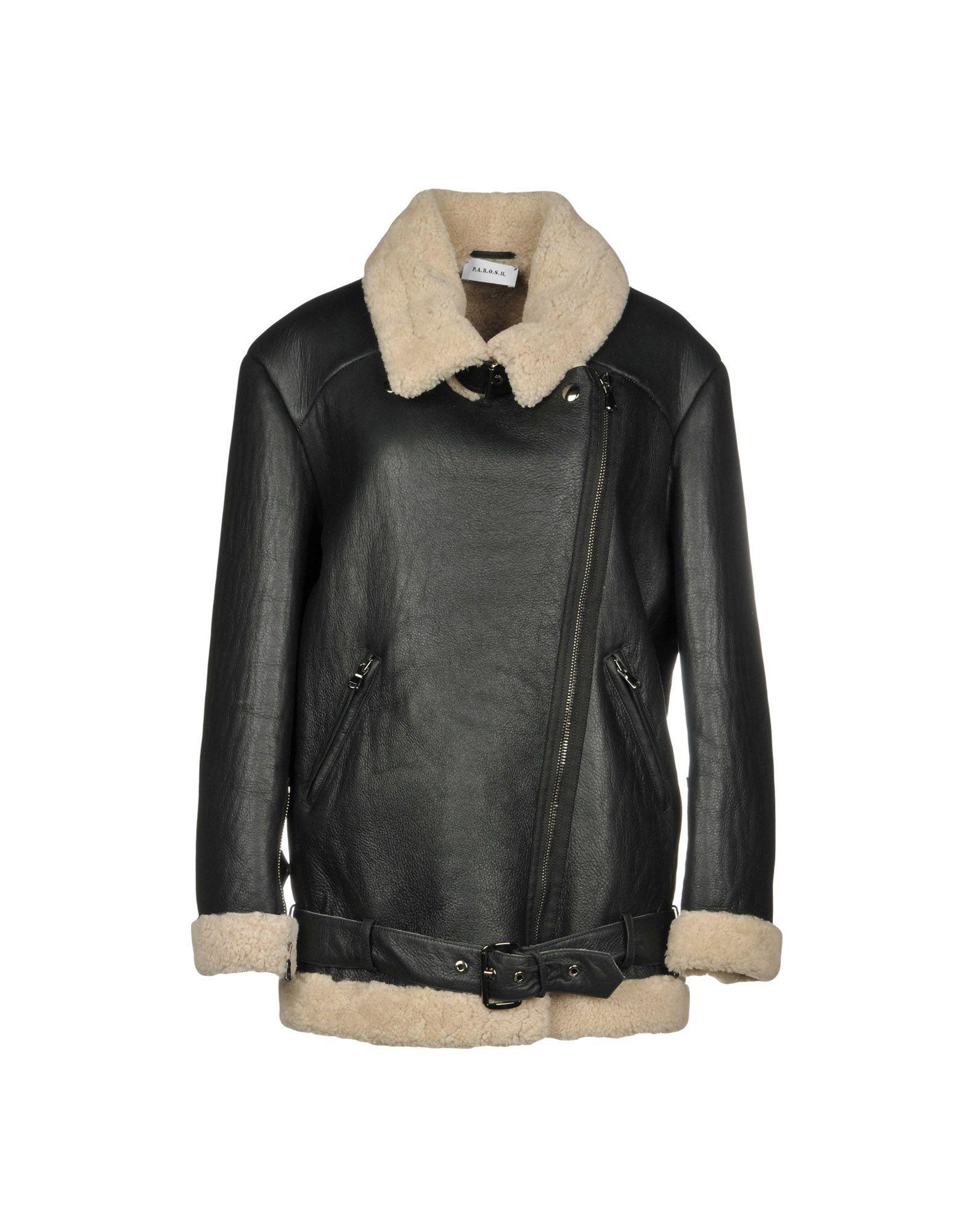 P.A.R.O.S.H. Black Lambskin Leather Jacket