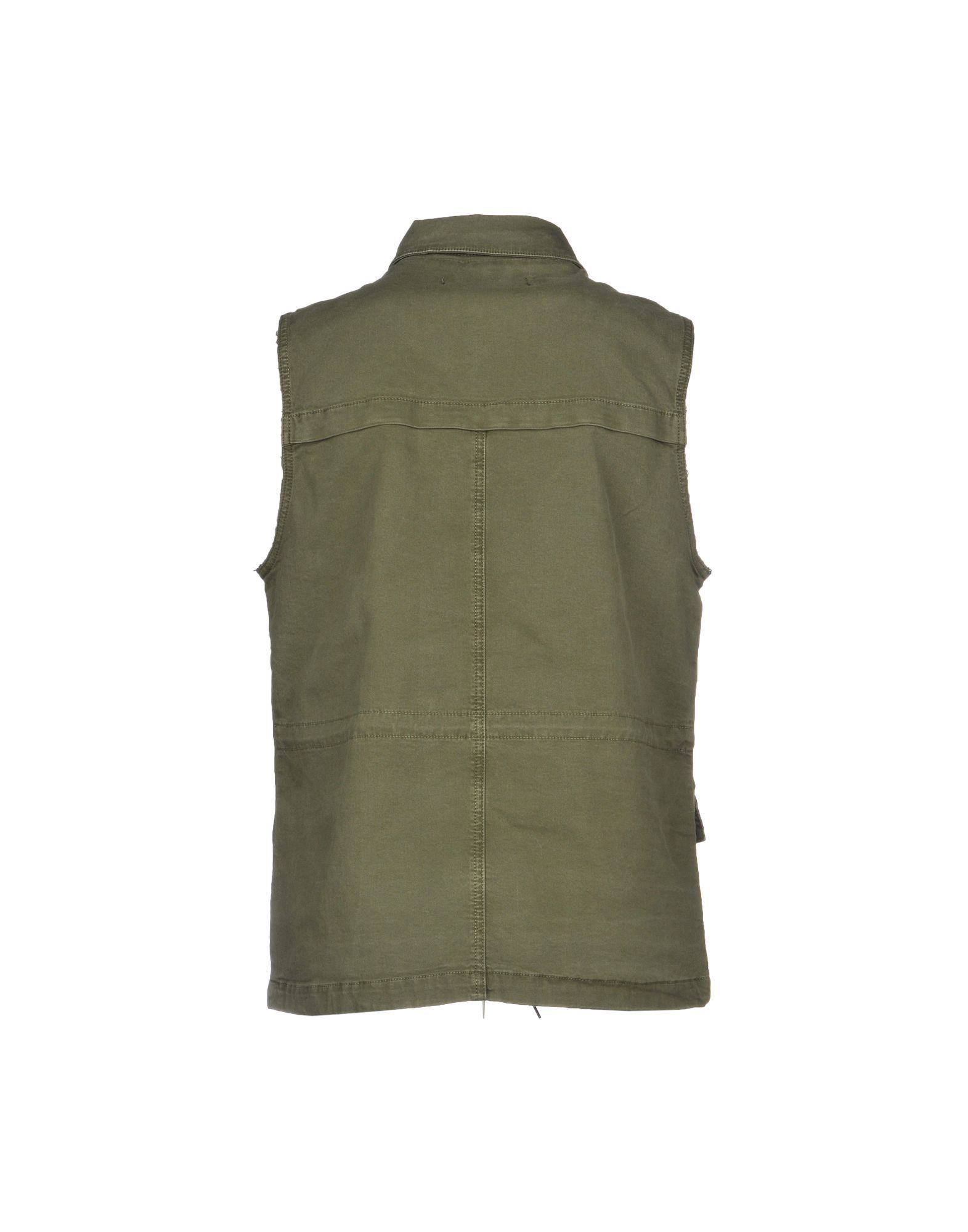 J Brand Military Green Cotton Gilet