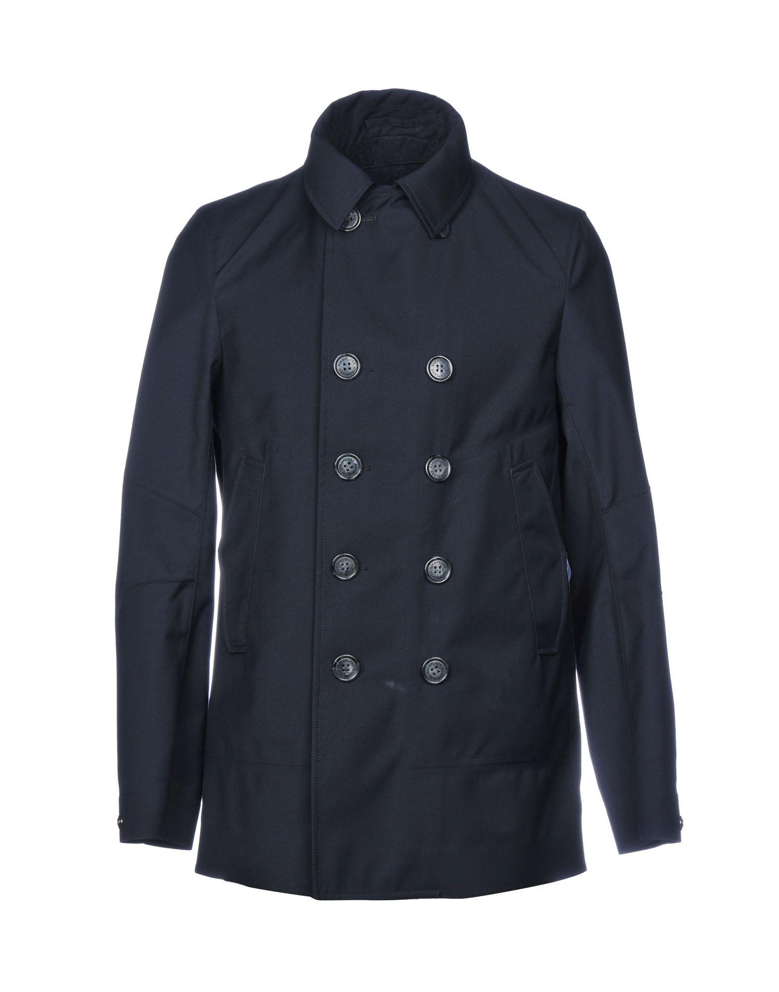 COATS & JACKETS Esemplare Dark blue Man Polyester
