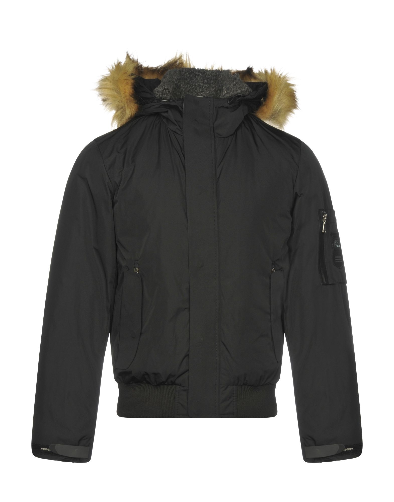 COATS & JACKETS Yes Zee By Essenza Black Man Polyester
