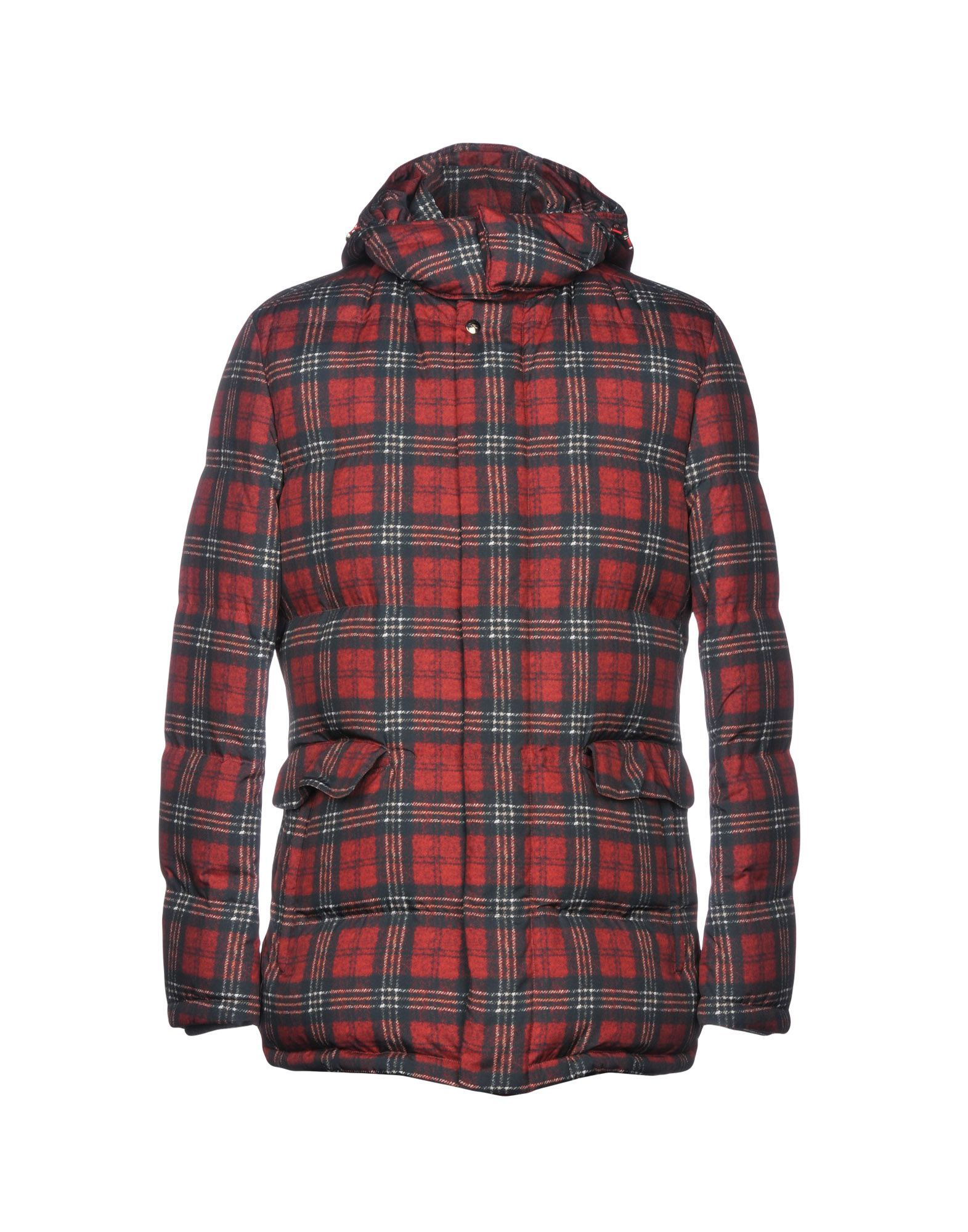 Isaia Brick Red Synthetic Down Jacket