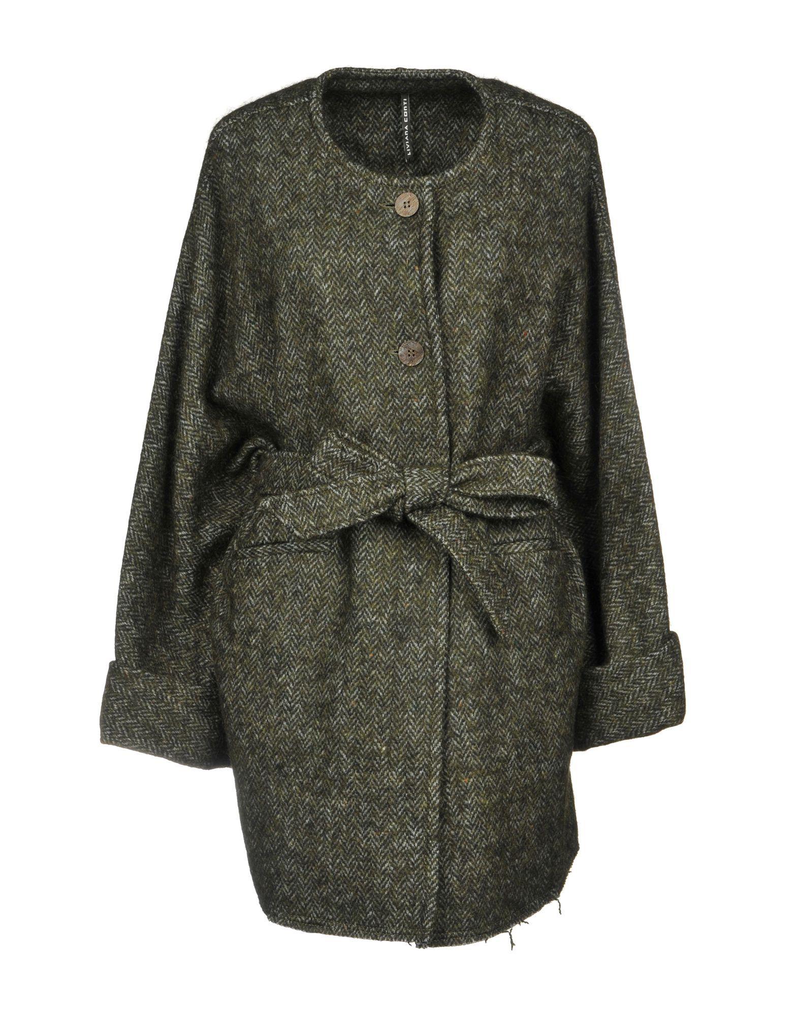 COATS & JACKETS Liviana Conti Military green Woman Cotton