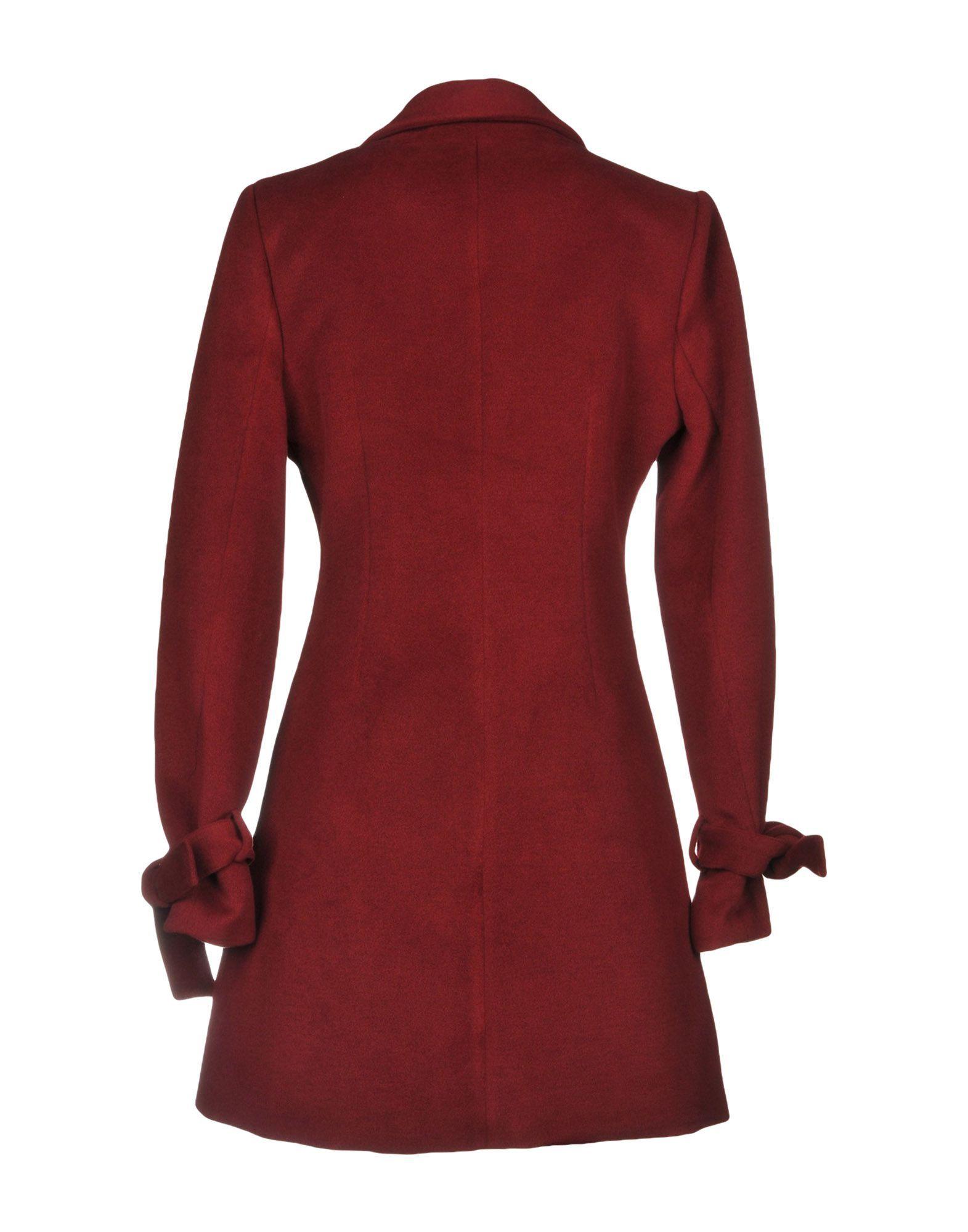 COATS & JACKETS Koralline Maroon Woman Polyester