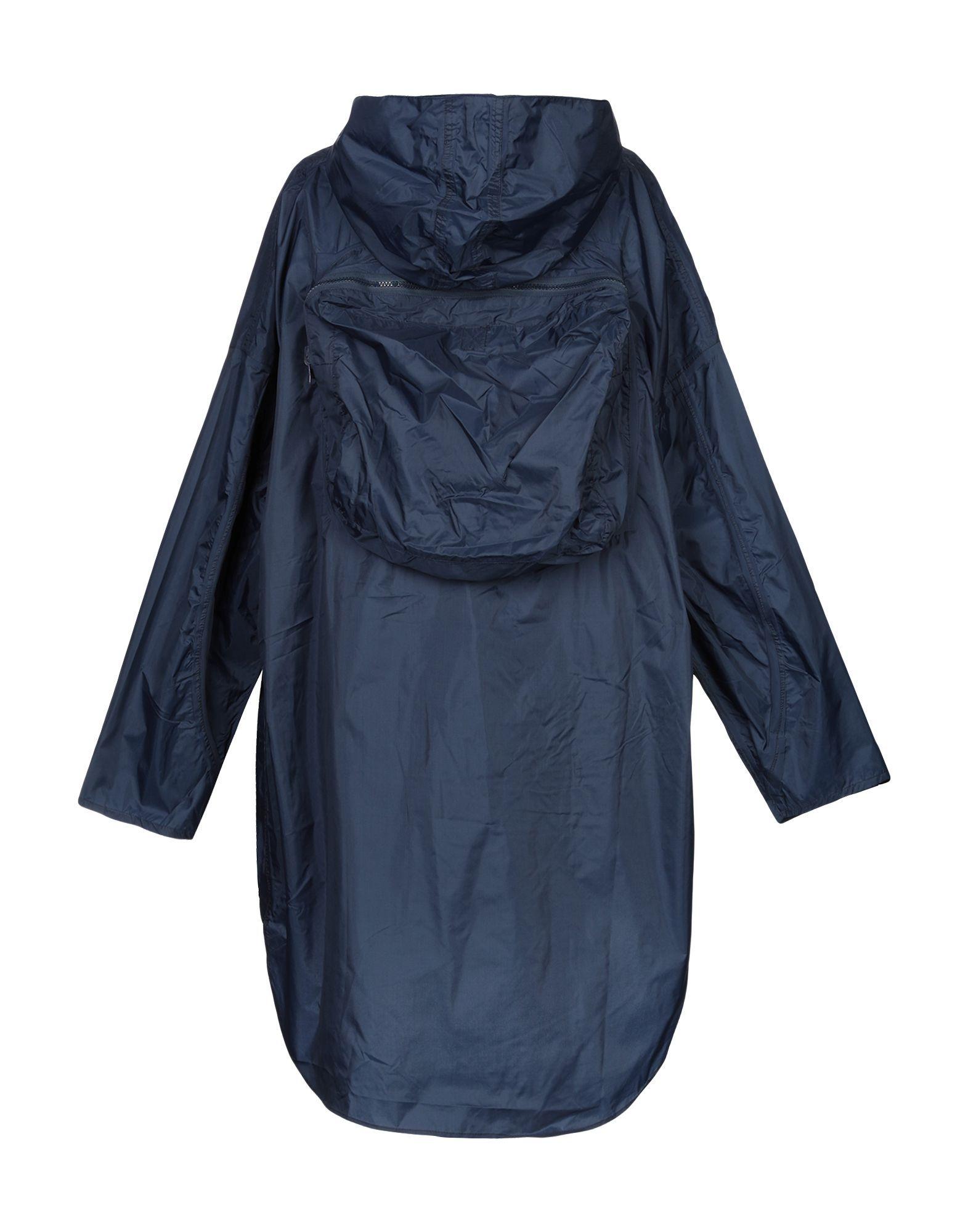 Aspesi Dark Blue Techno Fabric Raincoat